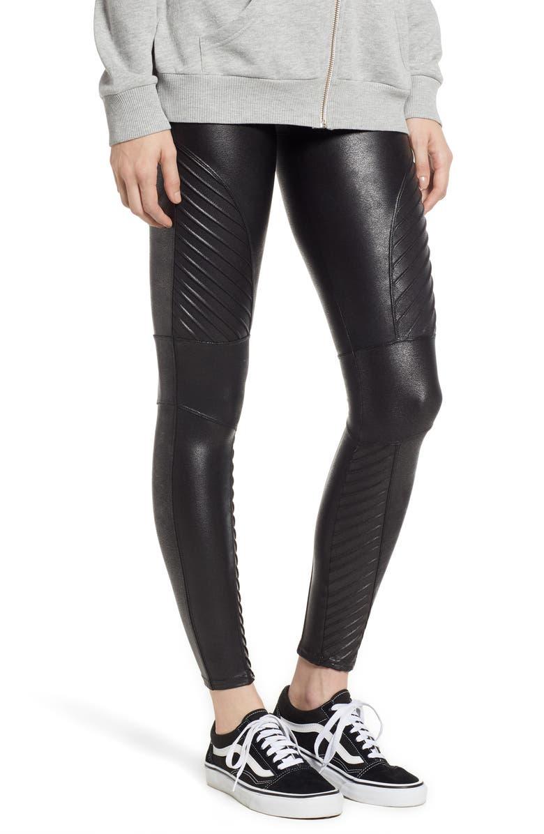 08955f6e87b SPANX SUP ®  SUP  Faux Leather Moto Leggings