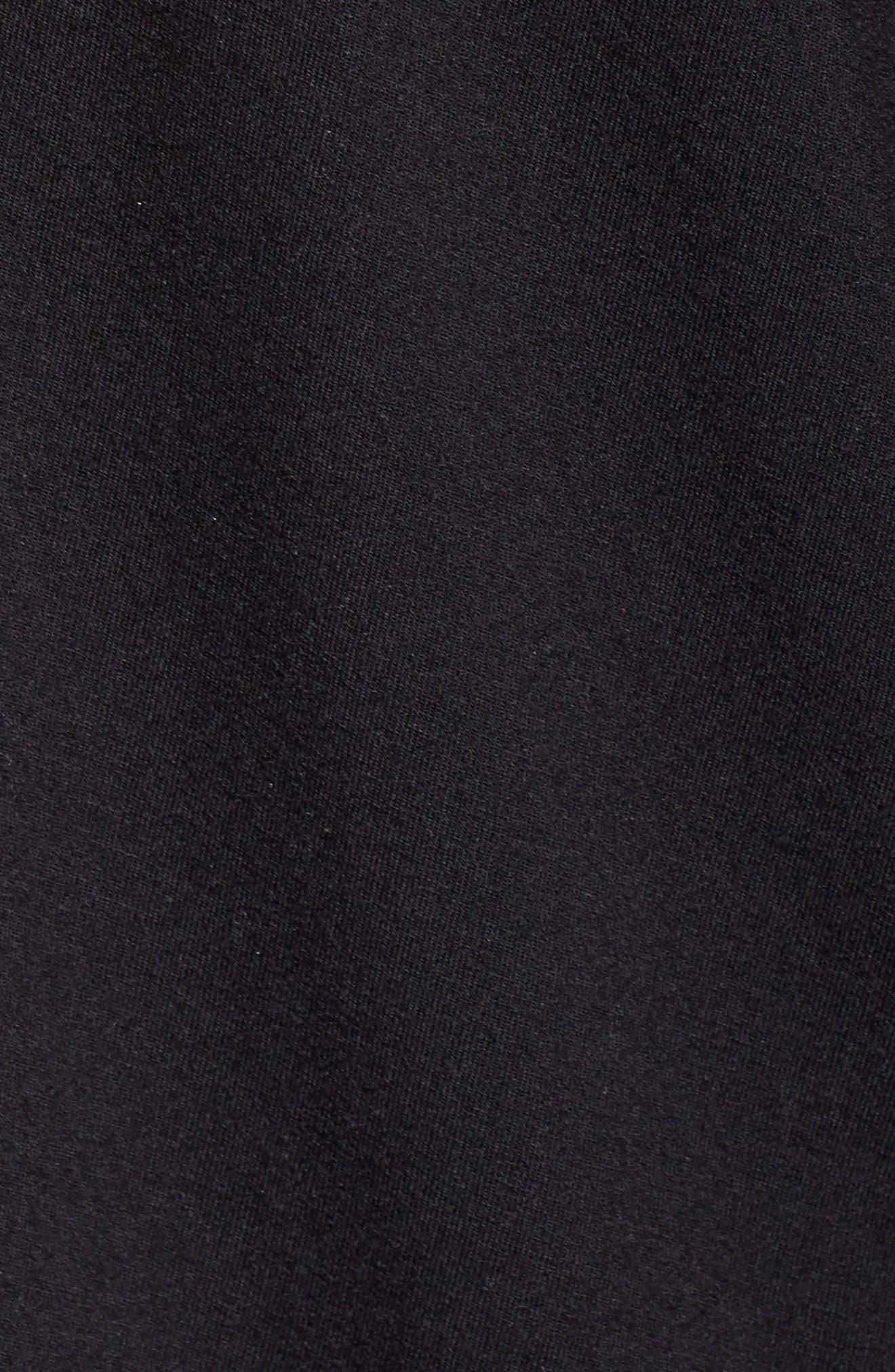 'Giselle' Pajamas,                             Alternate thumbnail 6, color,                             BLACK/ SORBET PINK