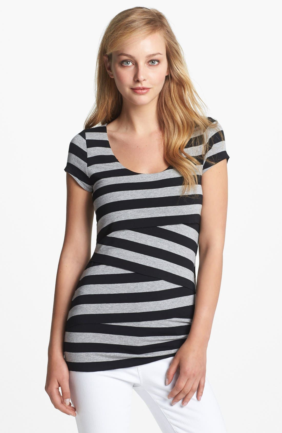 Stripe Bandage Top,                             Main thumbnail 3, color,