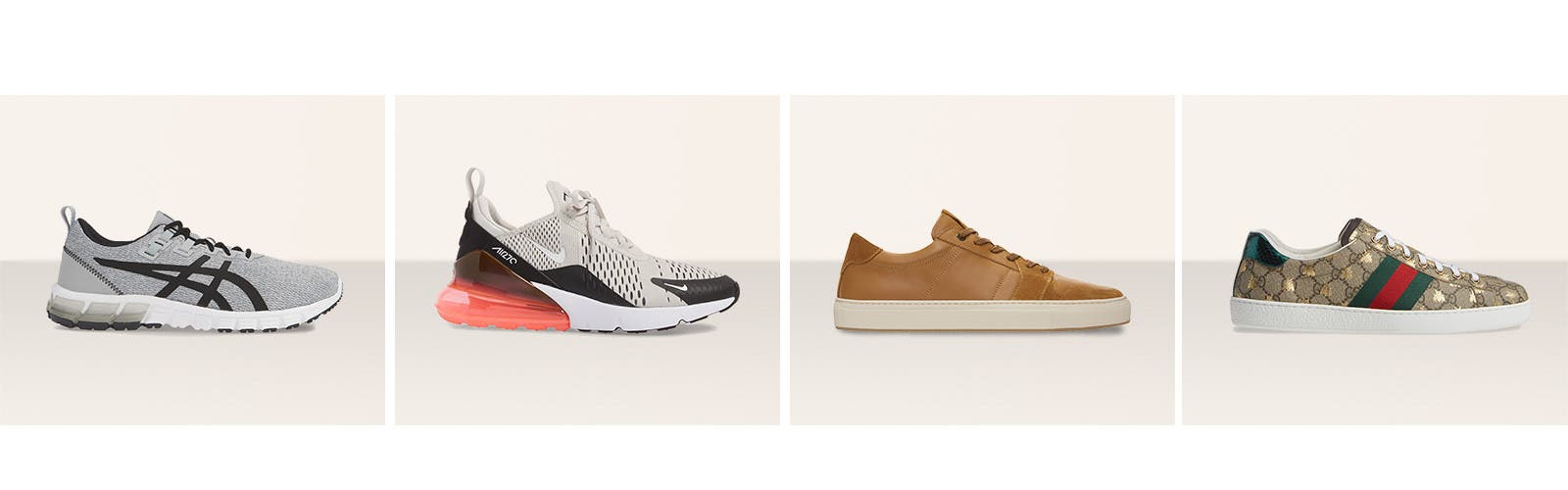 Get your kicks: men's sneakers.