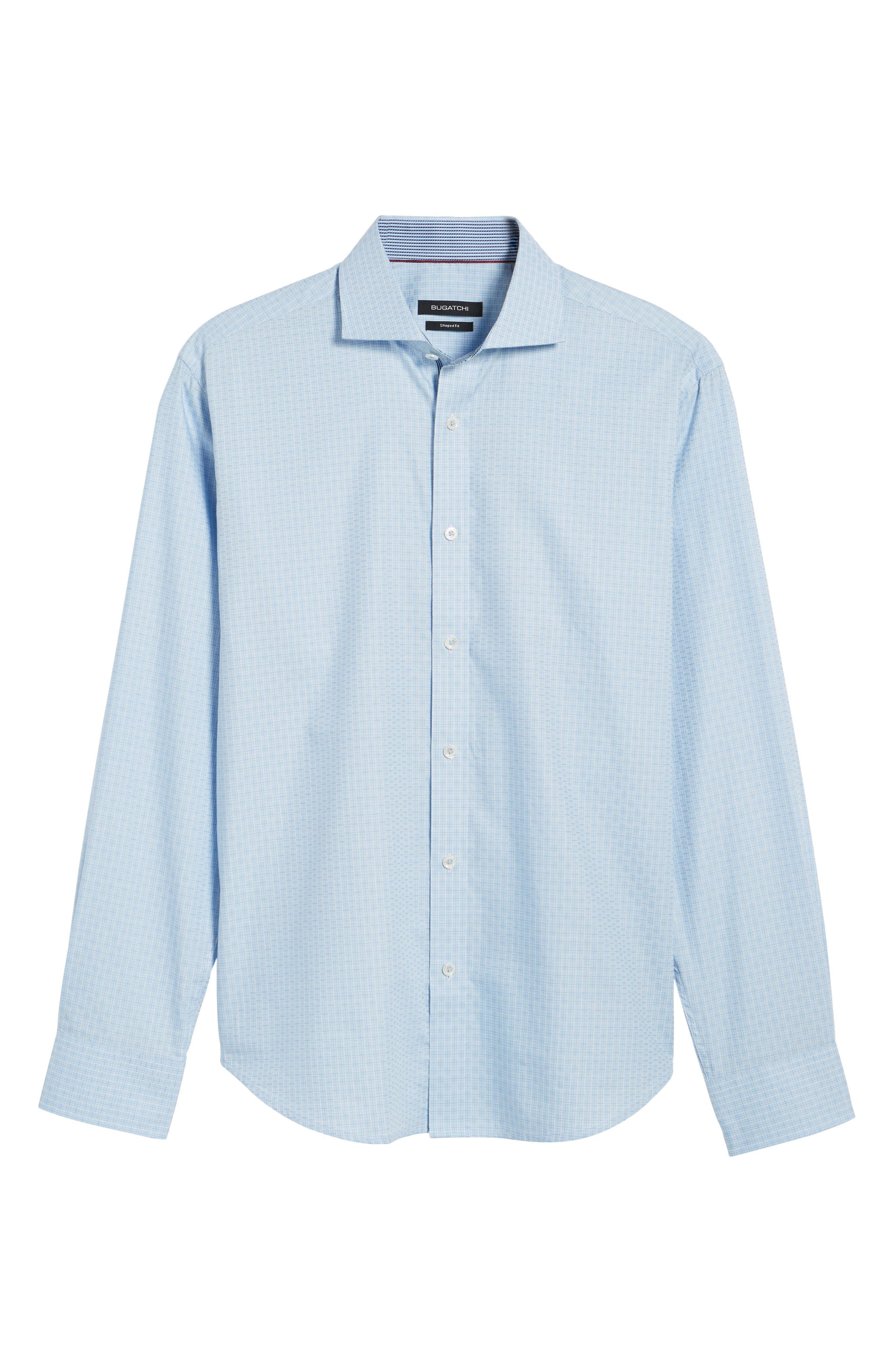 Shaped Fit Check Sport Shirt,                             Alternate thumbnail 6, color,                             459