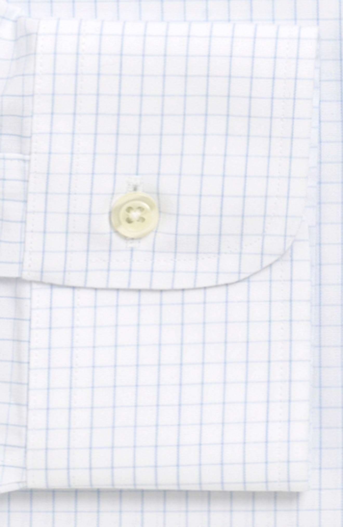 Trim Fit Check Dress Shirt,                             Alternate thumbnail 2, color,                             LIGHT/ PASTEL BLUE