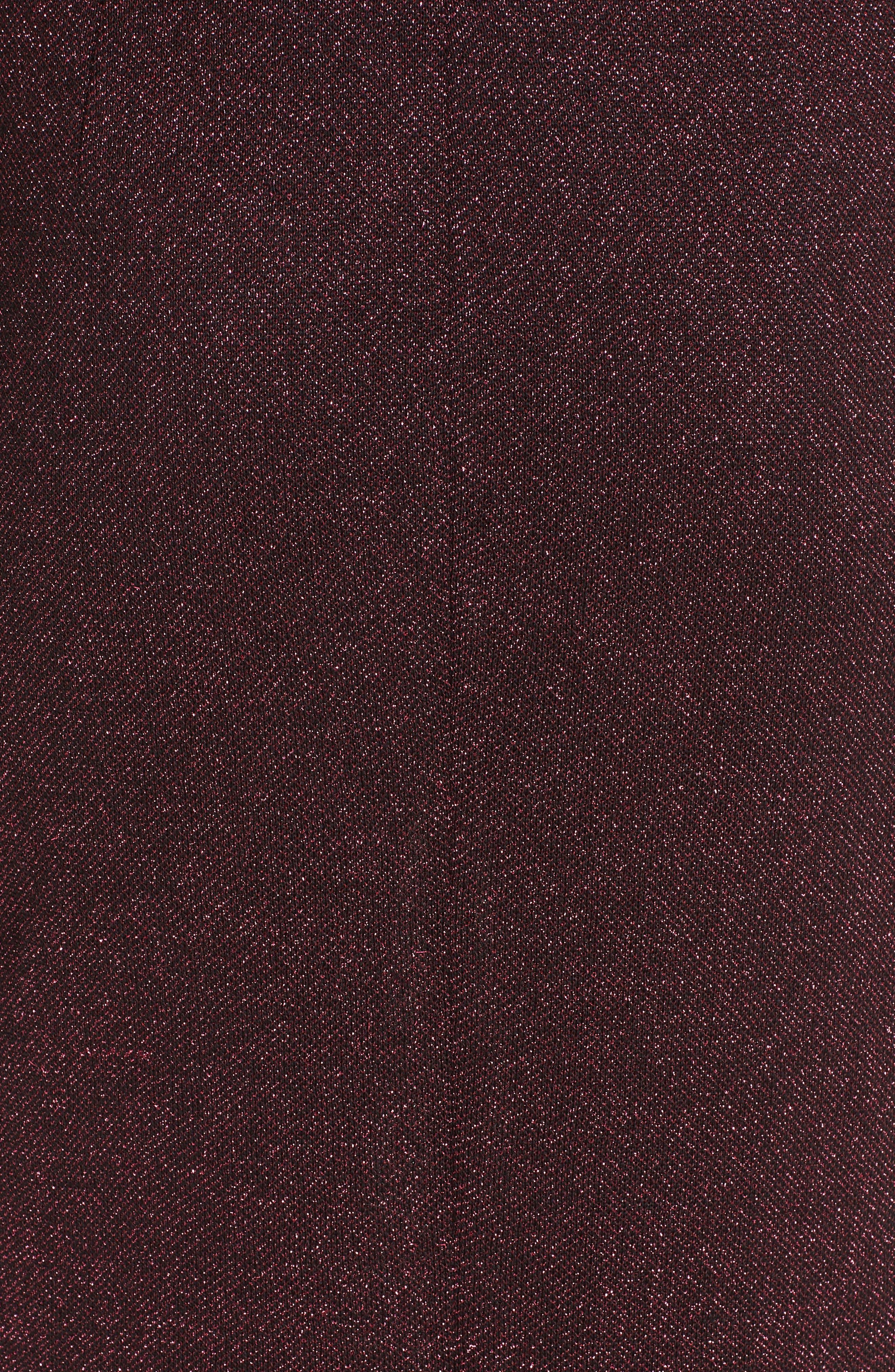 Mod Metallic Knit Sheath Dress,                             Alternate thumbnail 6, color,                             DARK PINK MULTI
