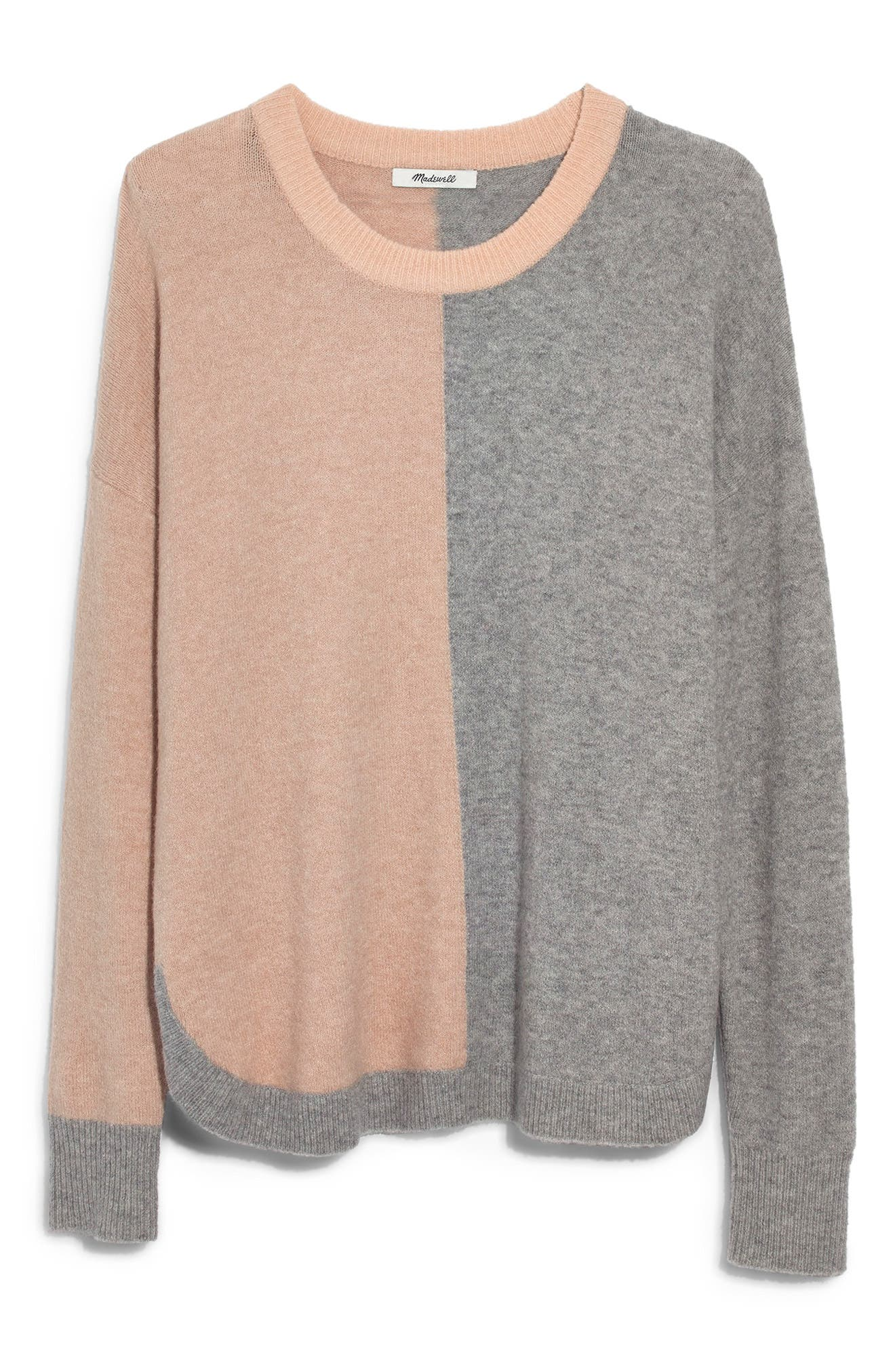 Westlake Colorblock Pullover,                             Main thumbnail 1, color,                             HEATHER BEIGE