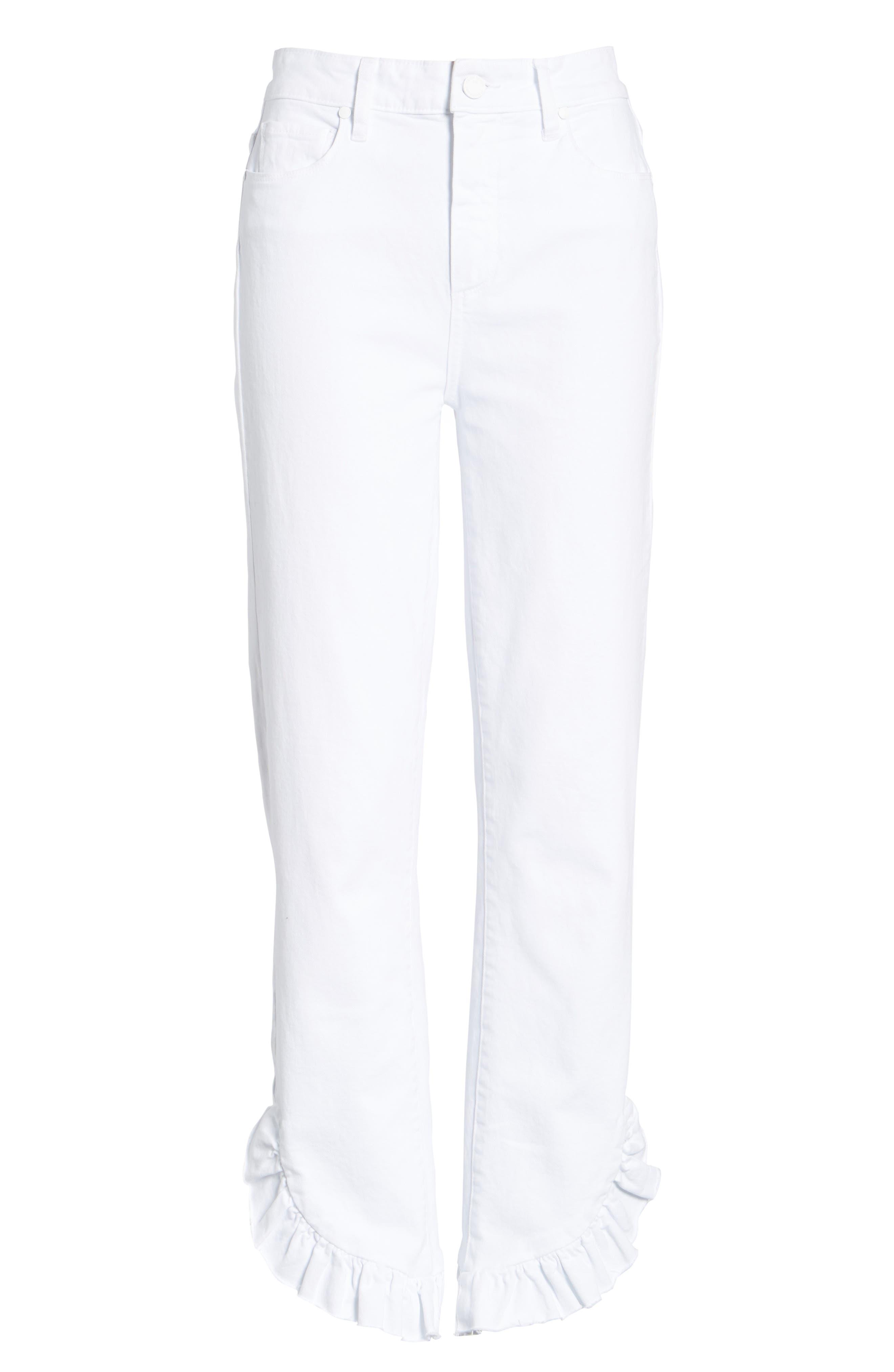 Jacqueline Crop Straight Leg Jeans,                             Alternate thumbnail 6, color,                             100