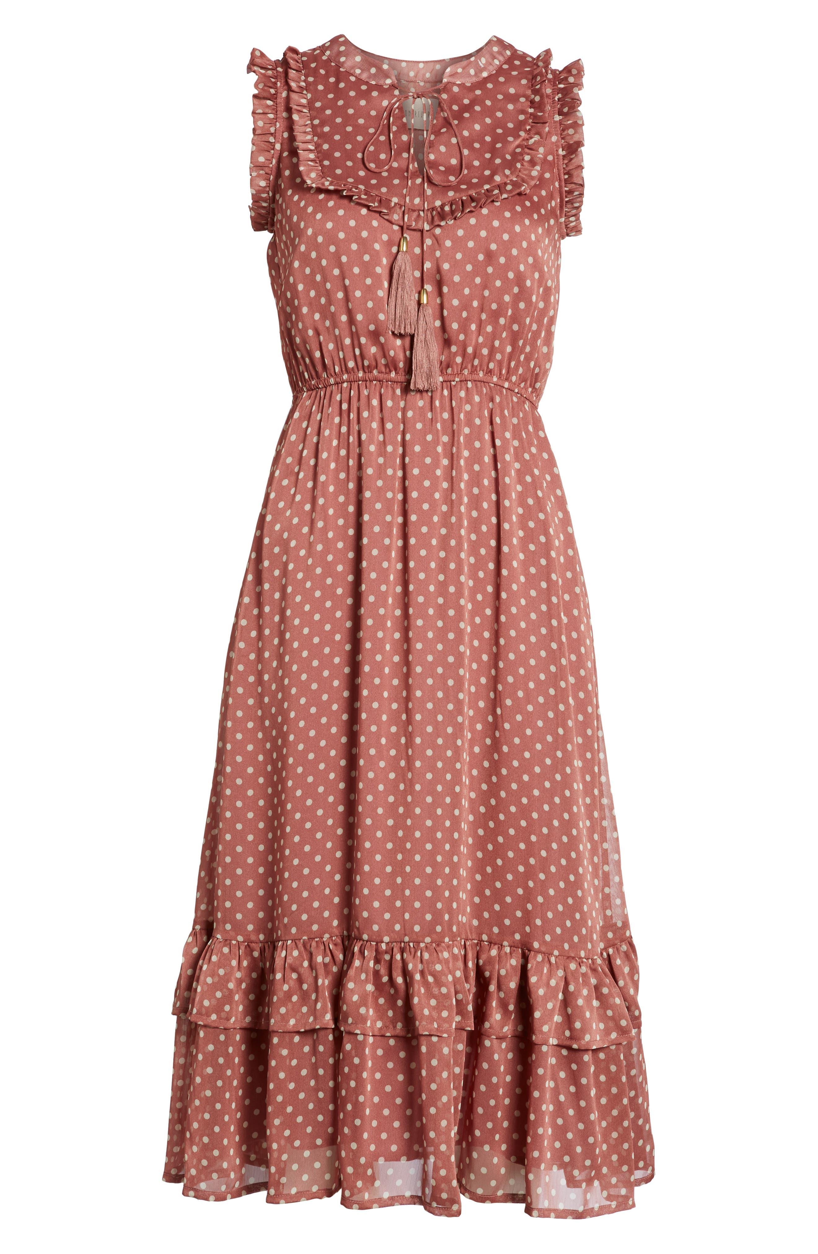 Ruffle Midi Dress,                             Alternate thumbnail 6, color,