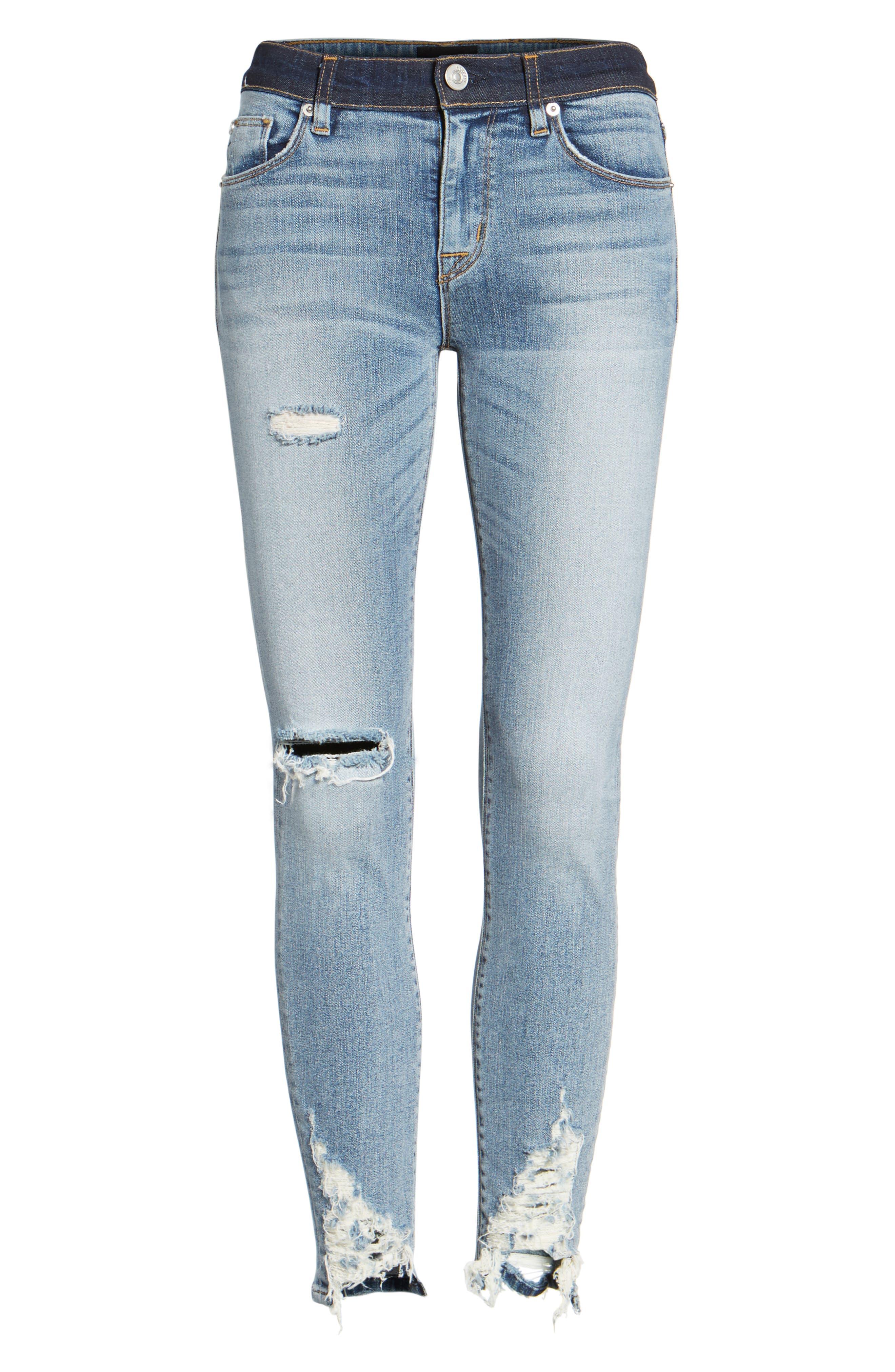 Hudson Nico Ankle Skinny Jeans,                             Alternate thumbnail 6, color,                             GAME CHANGER