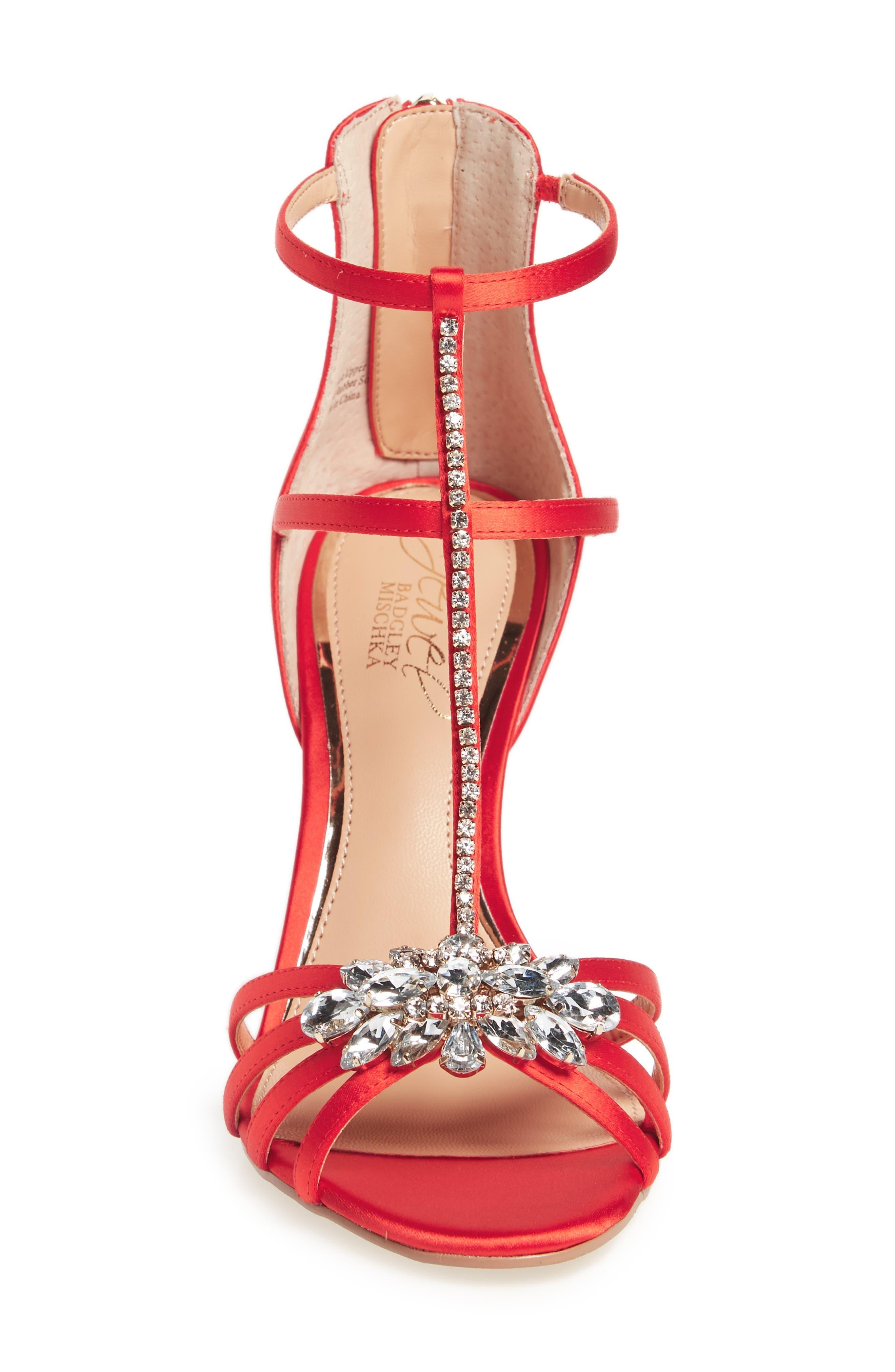 Hazel Embellished T-Strap Sandal,                             Alternate thumbnail 13, color,