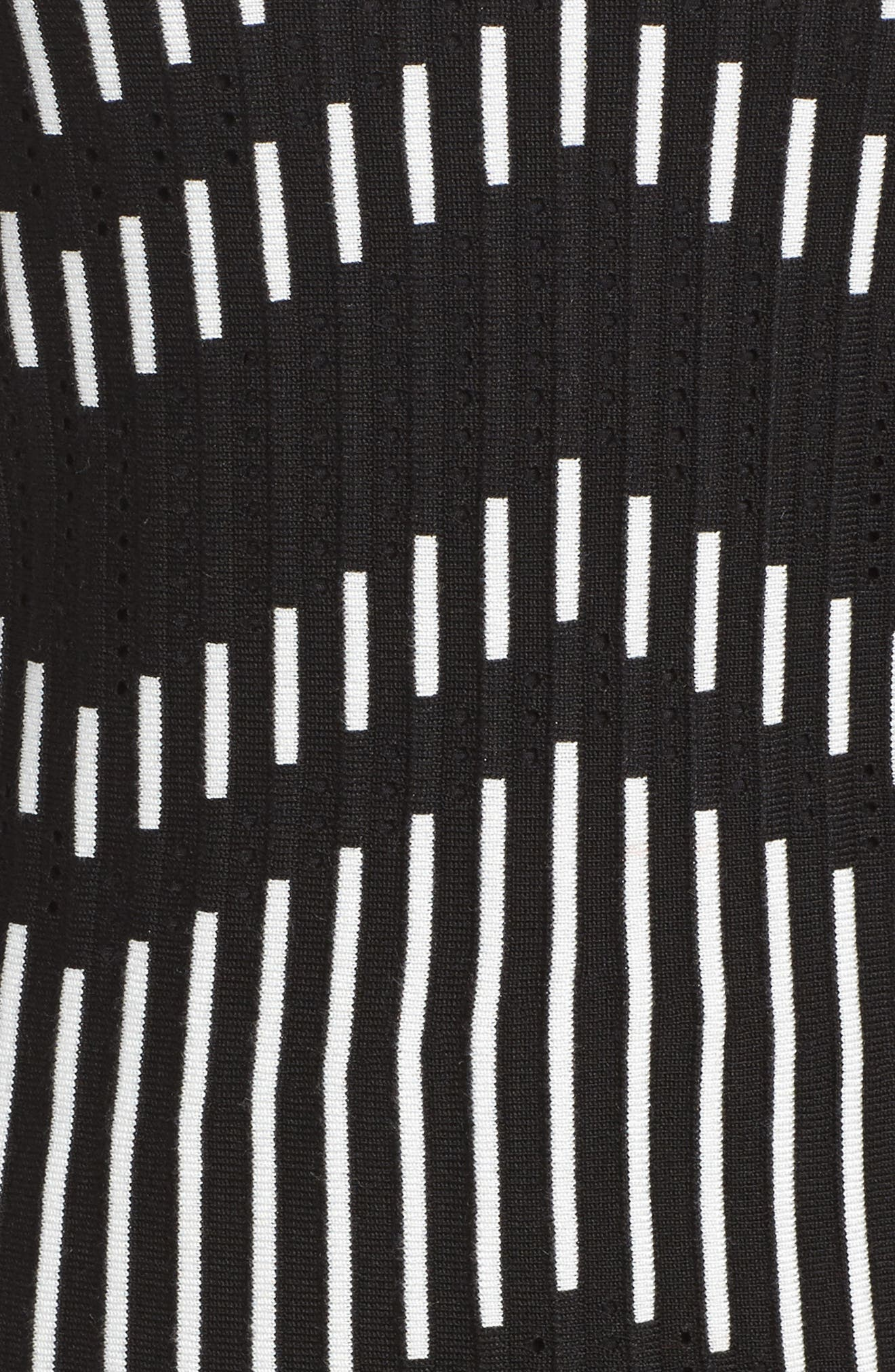 Zig Zag Sweater Dress,                             Alternate thumbnail 5, color,                             001