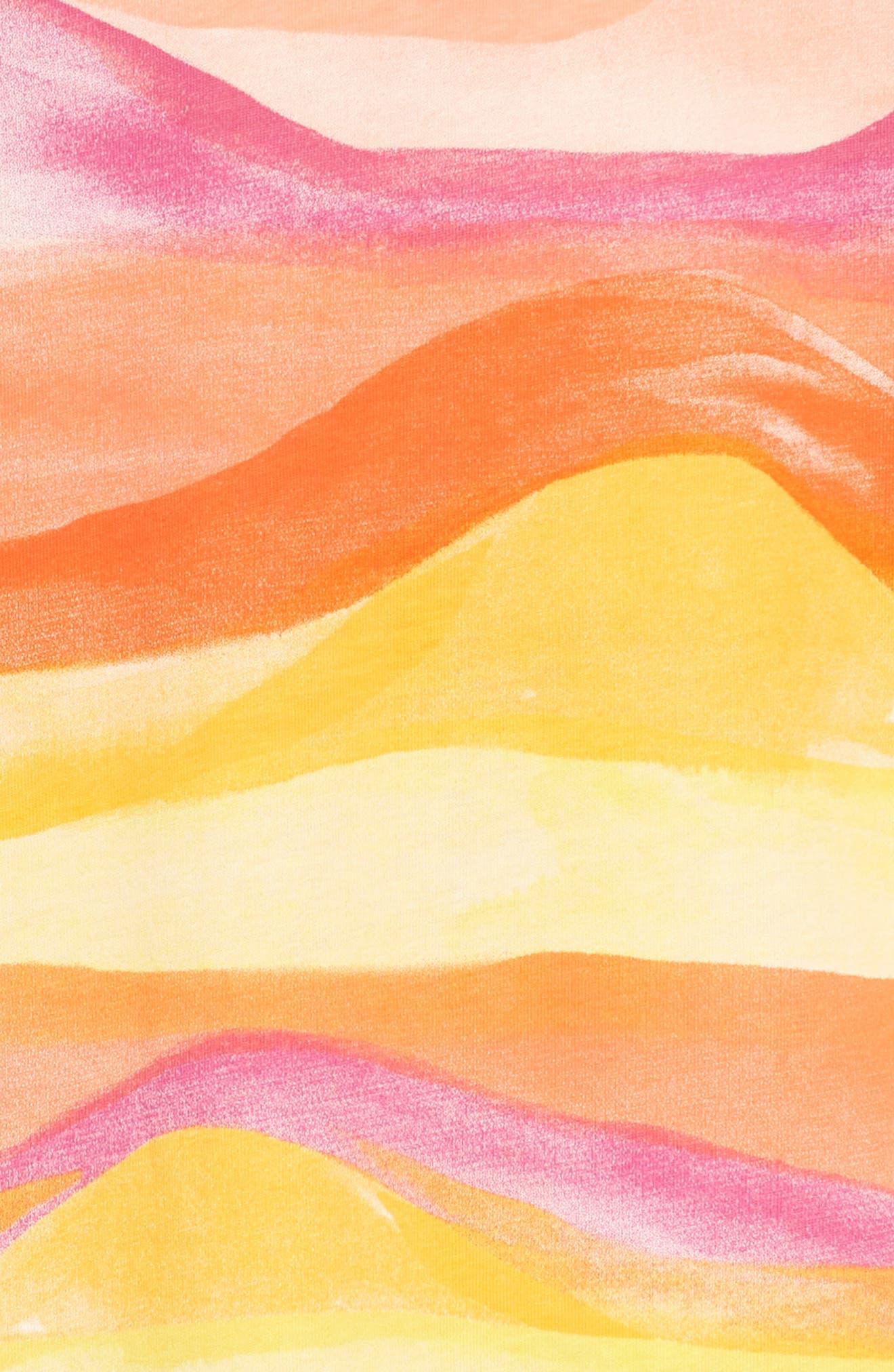 Desert Sunset Graphic Dress,                             Alternate thumbnail 3, color,                             700