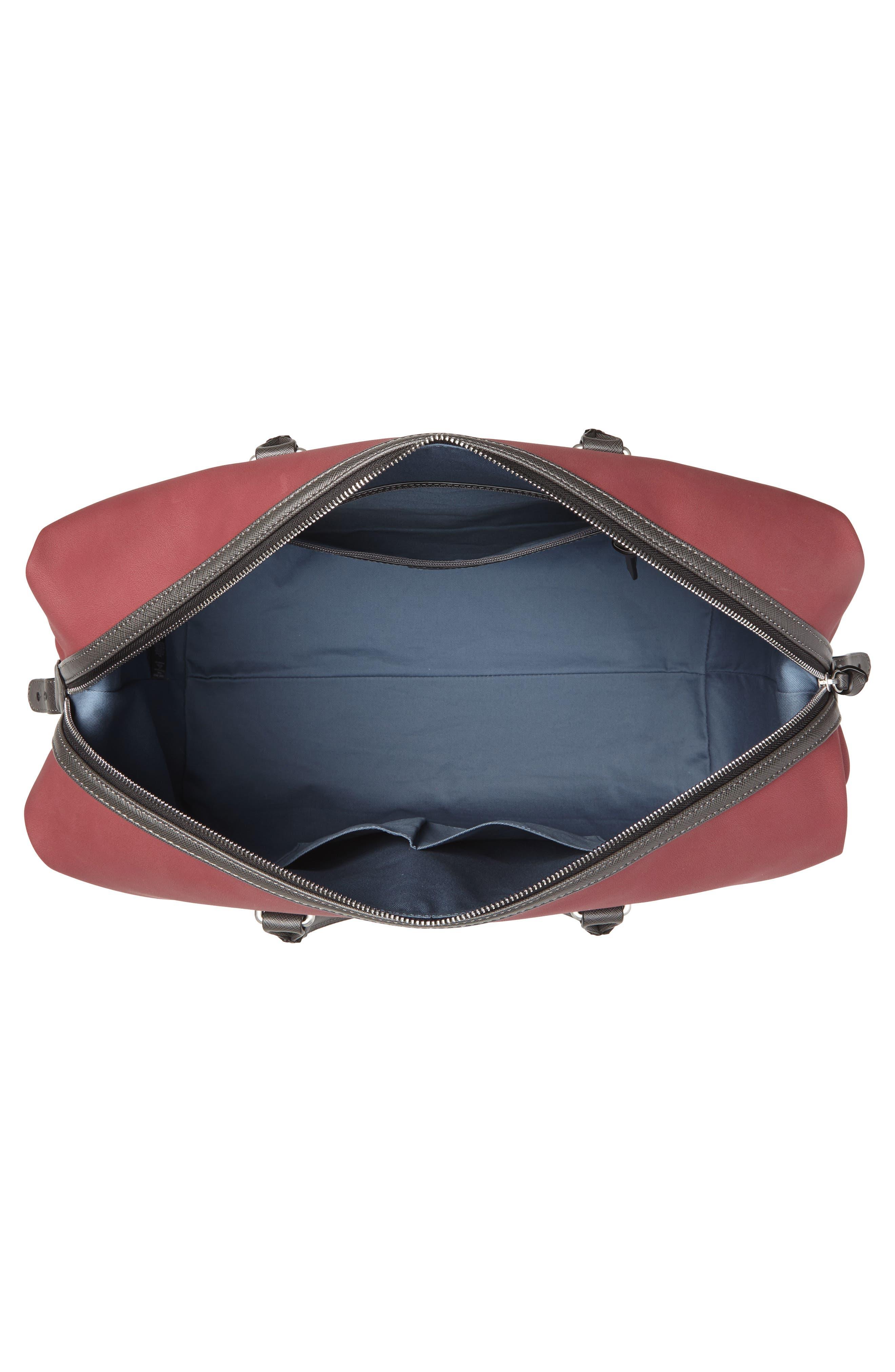 Swipes Duffel Bag,                             Alternate thumbnail 4, color,                             RED