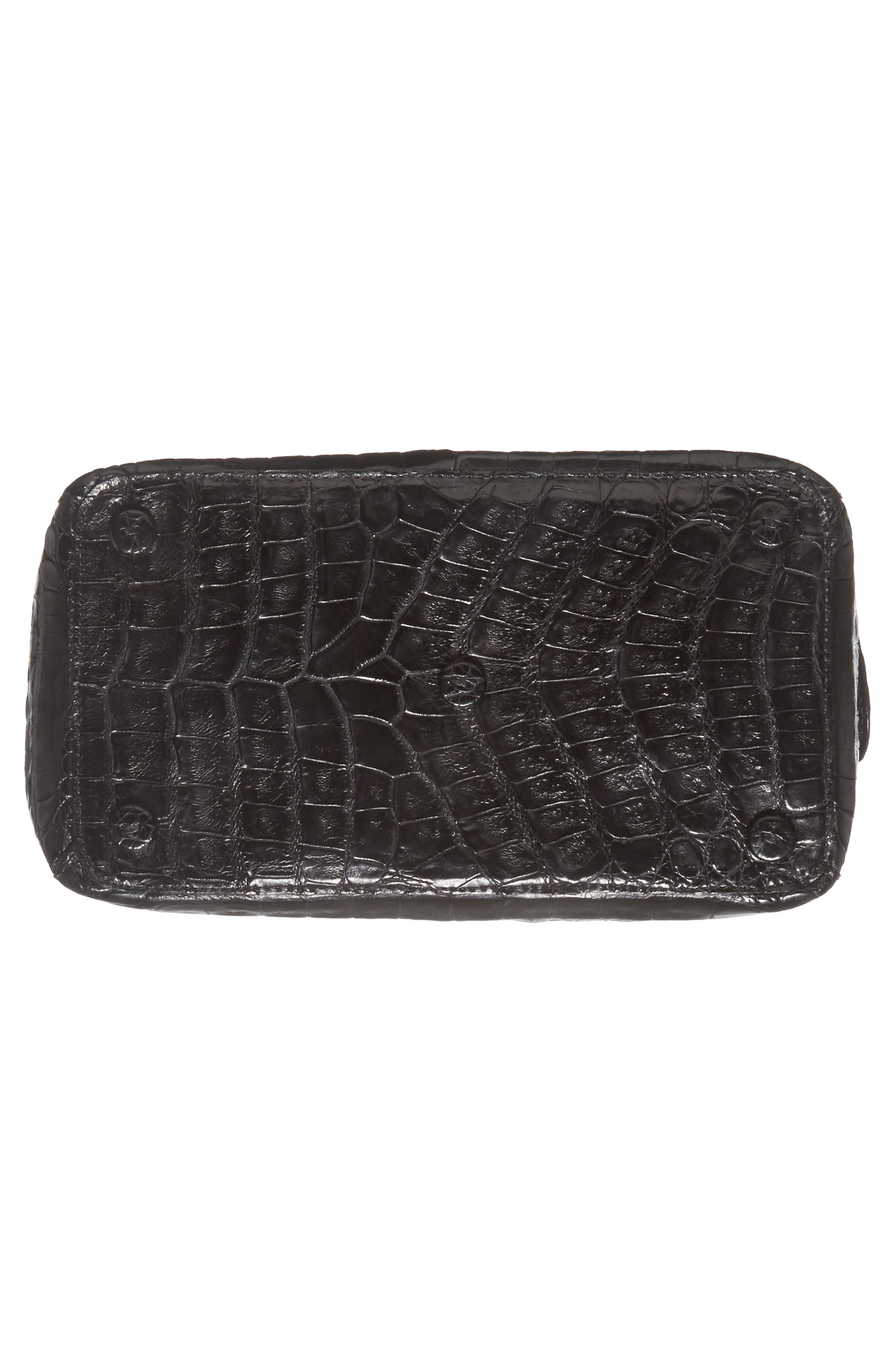Small Cube Genuine Crocodile Crossbody Bag,                             Alternate thumbnail 11, color,