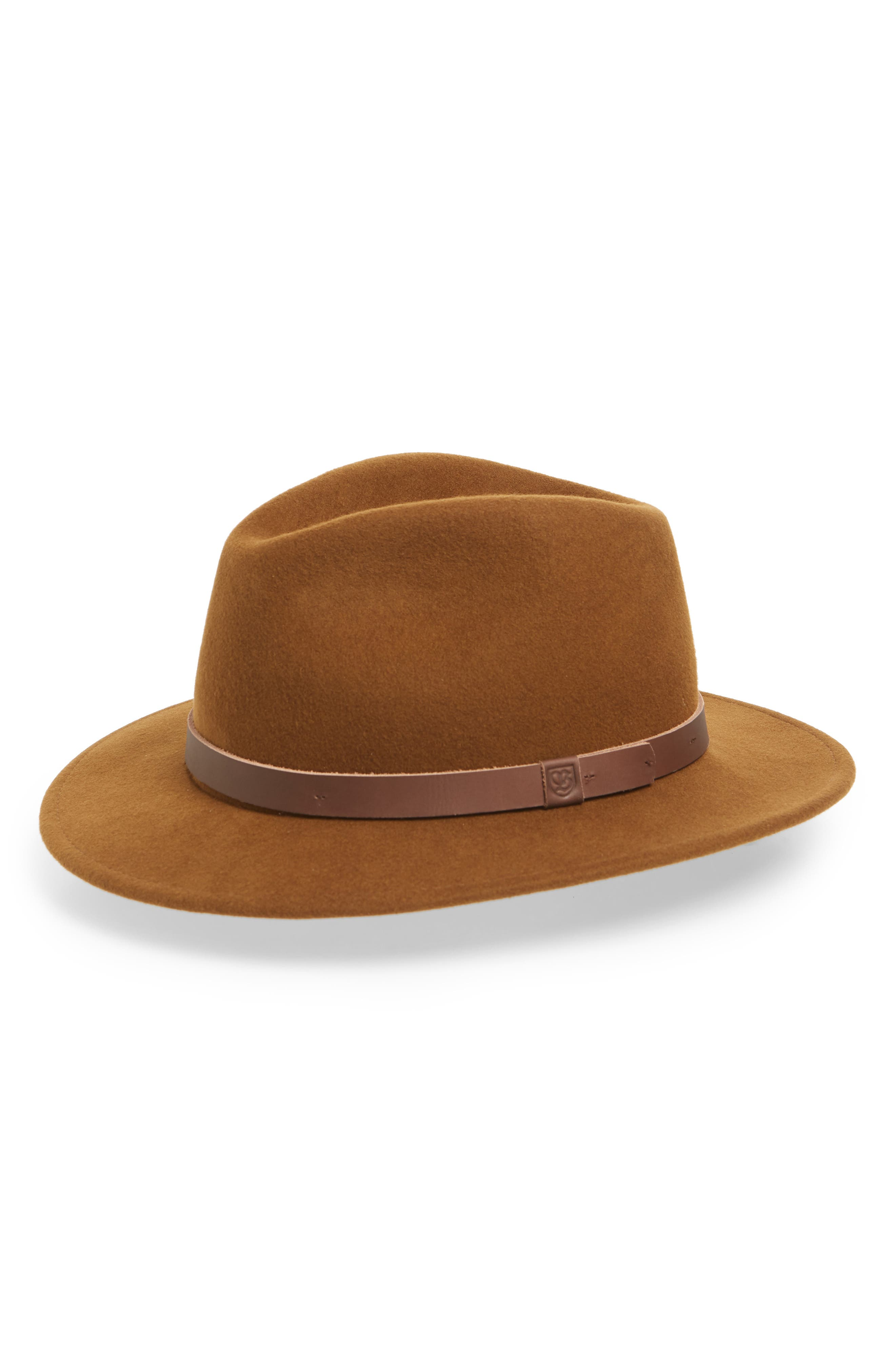 Messer II Felted Wool Fedora,                         Main,                         color, COFFEE