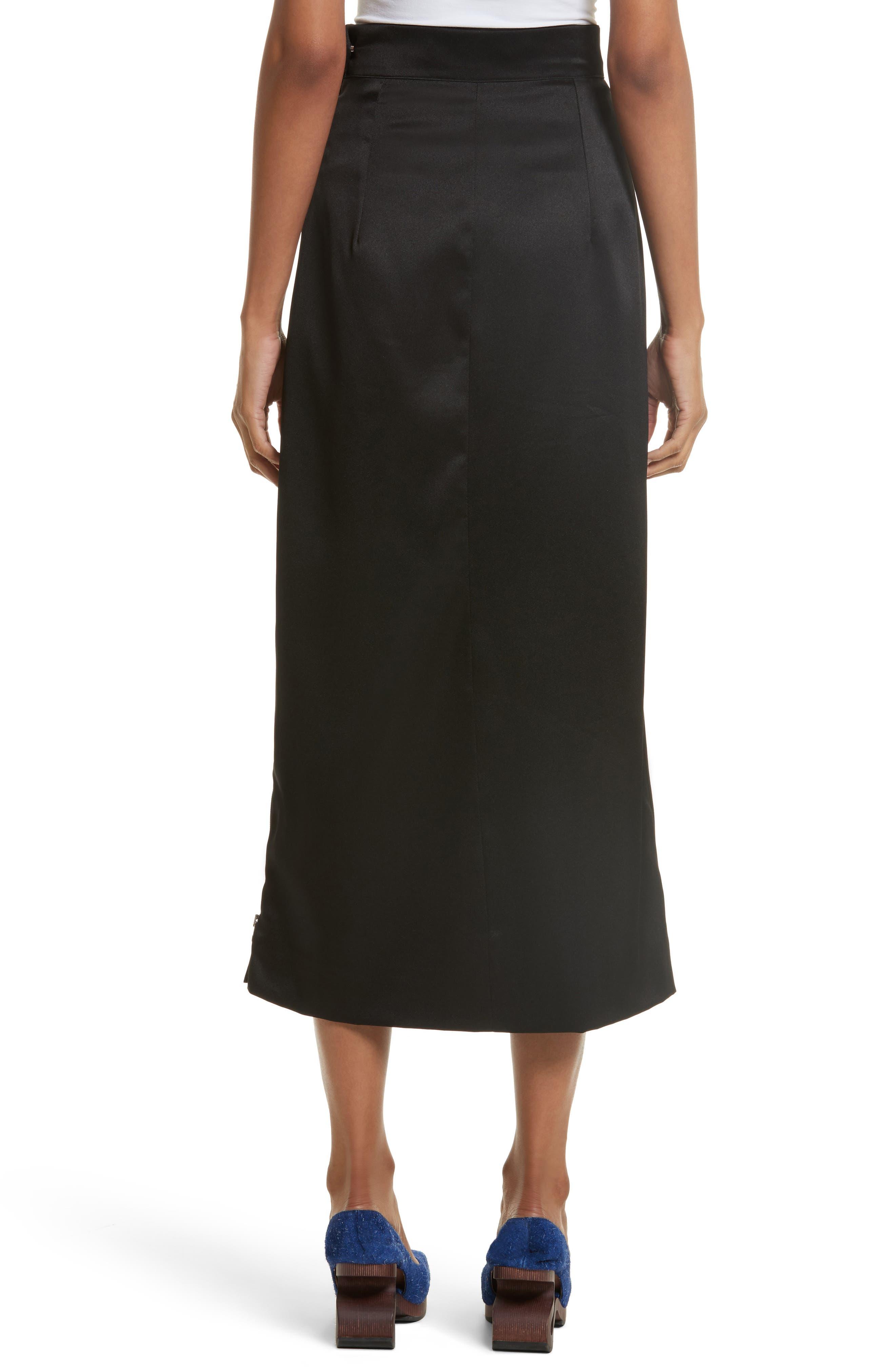 Side Zip Midi Skirt,                             Alternate thumbnail 2, color,                             001