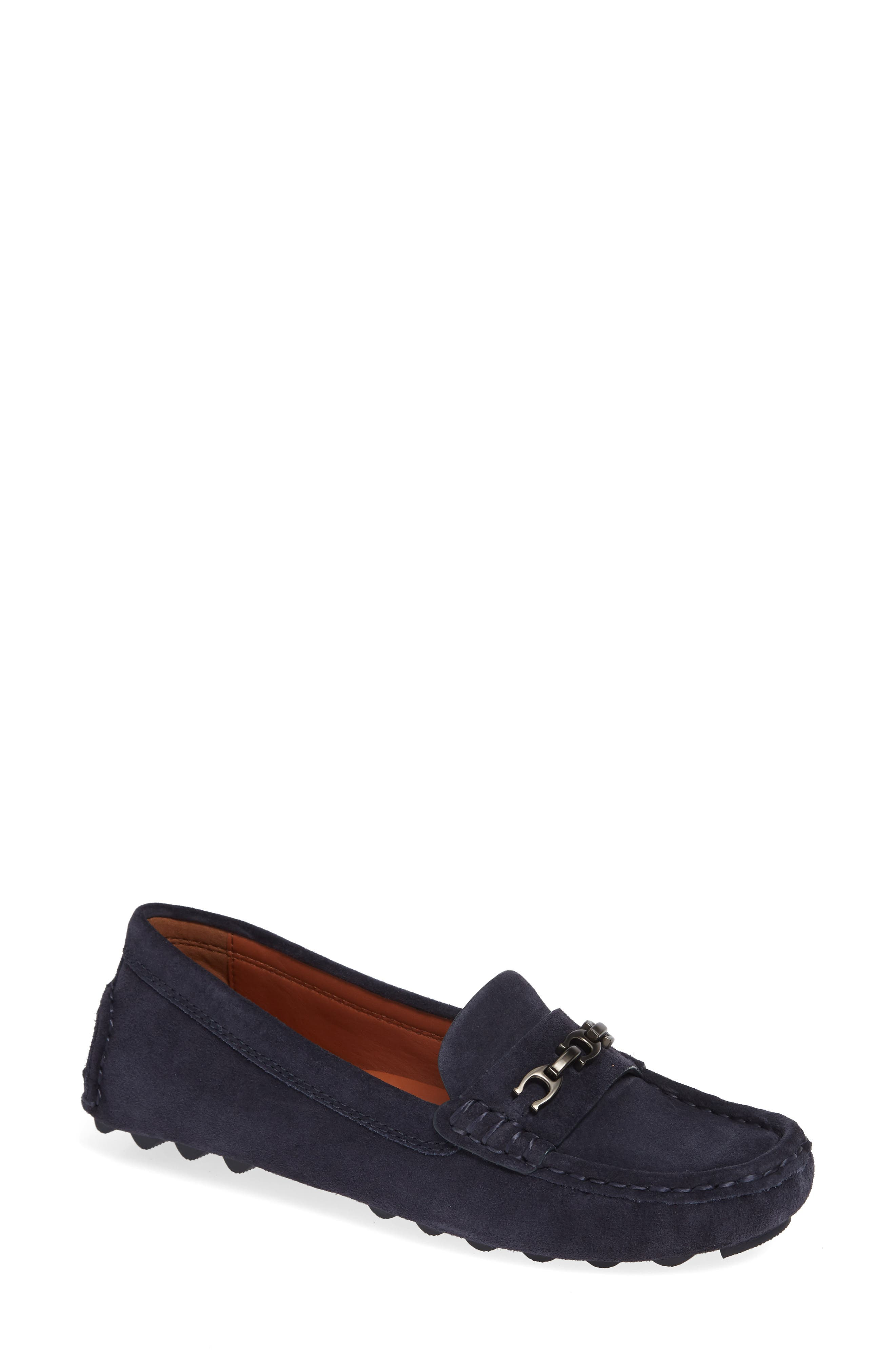 Crosby Driver Loafer,                         Main,                         color, MIDNIGHT NAVY SUEDE