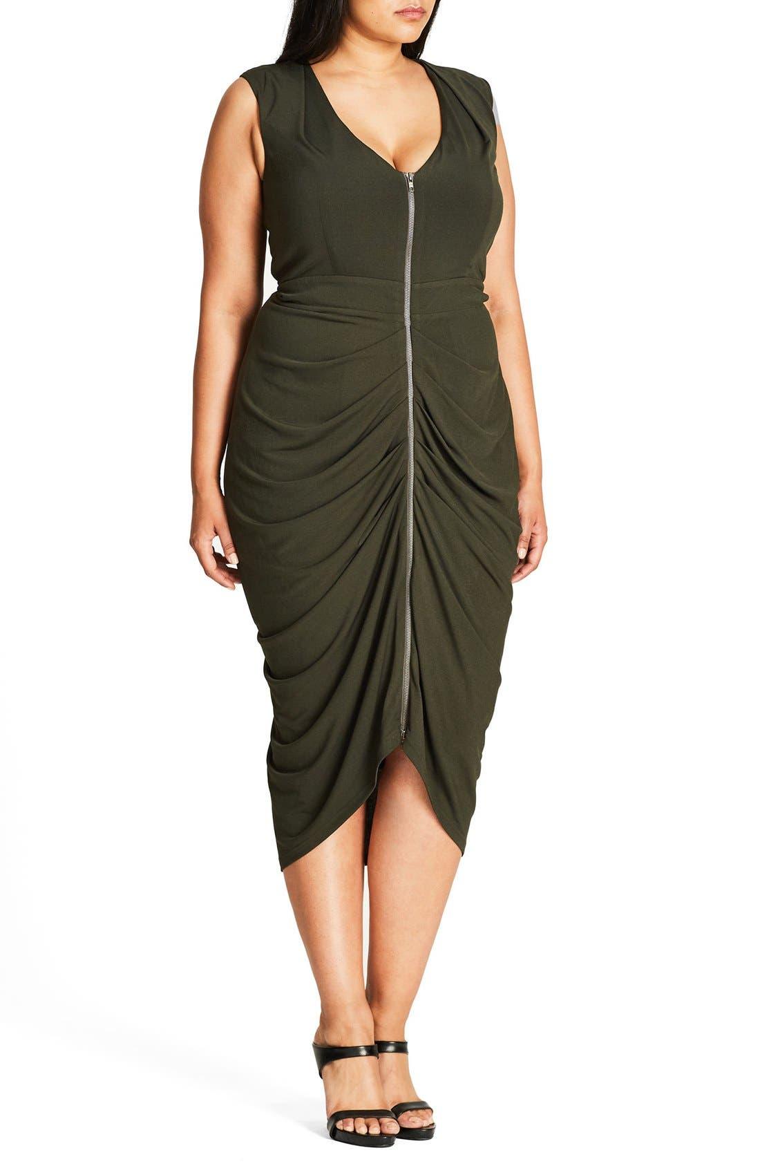 Sexy Drape Midi Dress,                             Alternate thumbnail 4, color,                             311