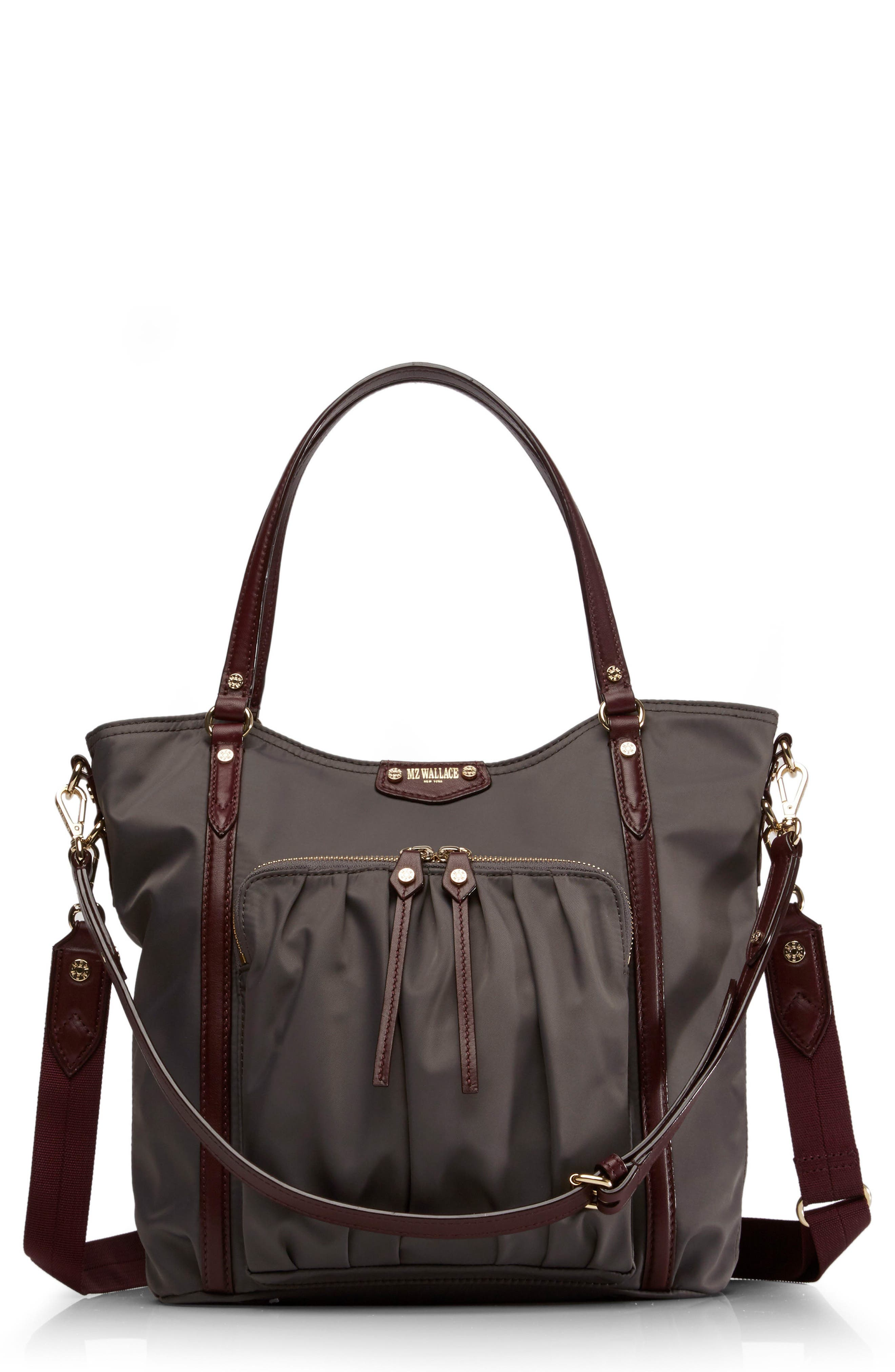 Nikki Nylon Satchel,                             Main thumbnail 1, color,                             023