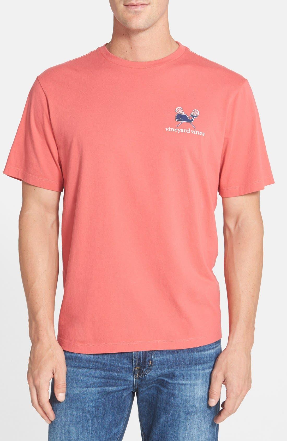 'Lacrosse Whale' Graphic T-Shirt,                             Alternate thumbnail 2, color,                             628