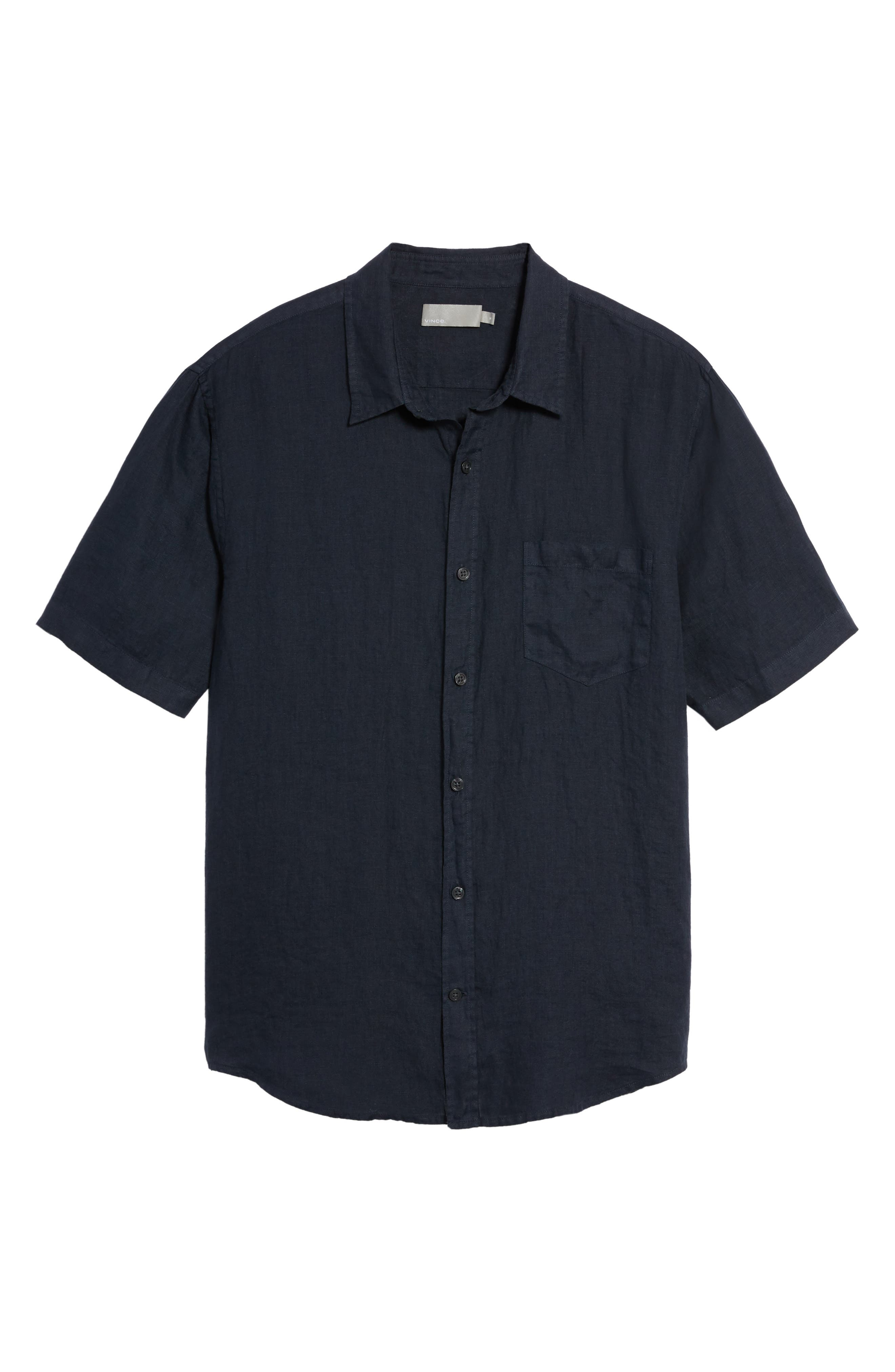 Trim Fit Linen Sport Shirt,                             Alternate thumbnail 6, color,                             403