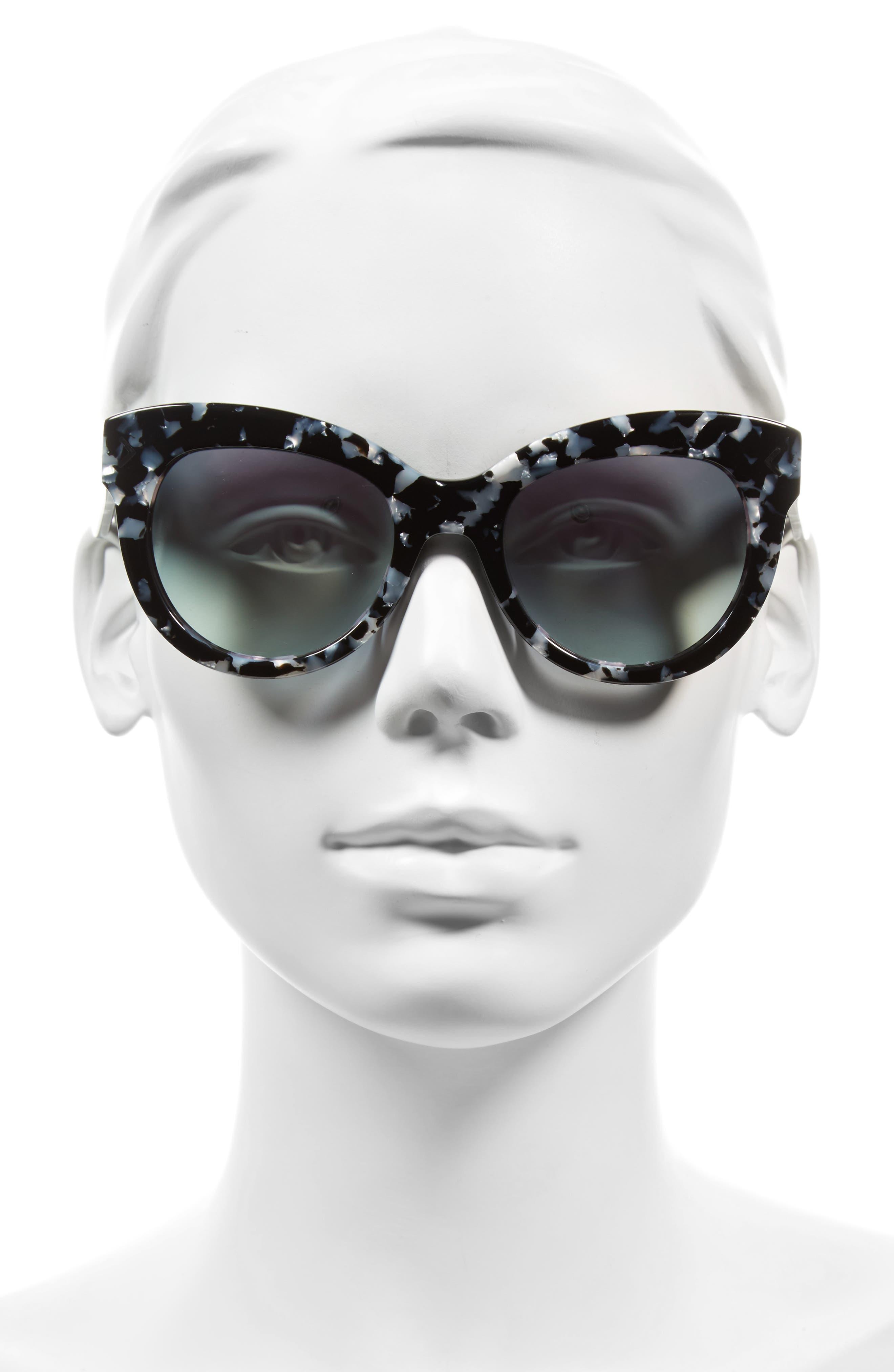 Charli 52mm Cat Eye Sunglasses,                             Alternate thumbnail 2, color,                             001