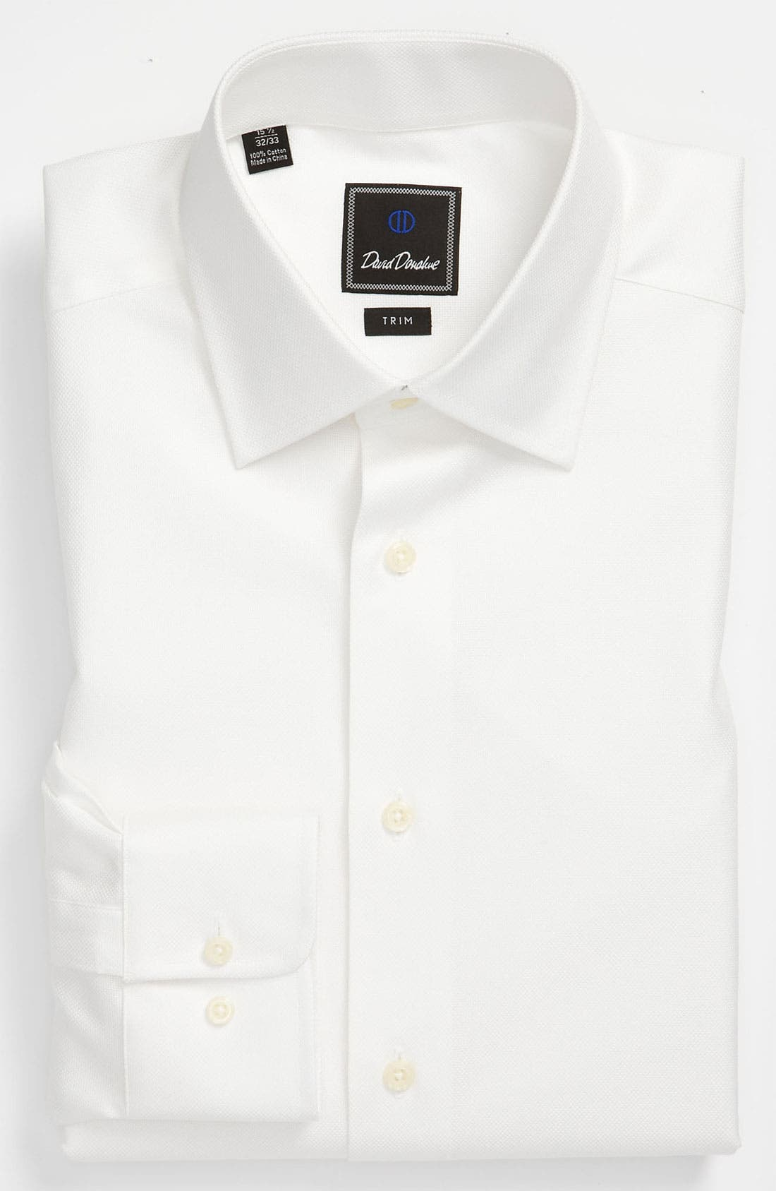 Trim Fit Dress Shirt,                         Main,                         color, WHITE