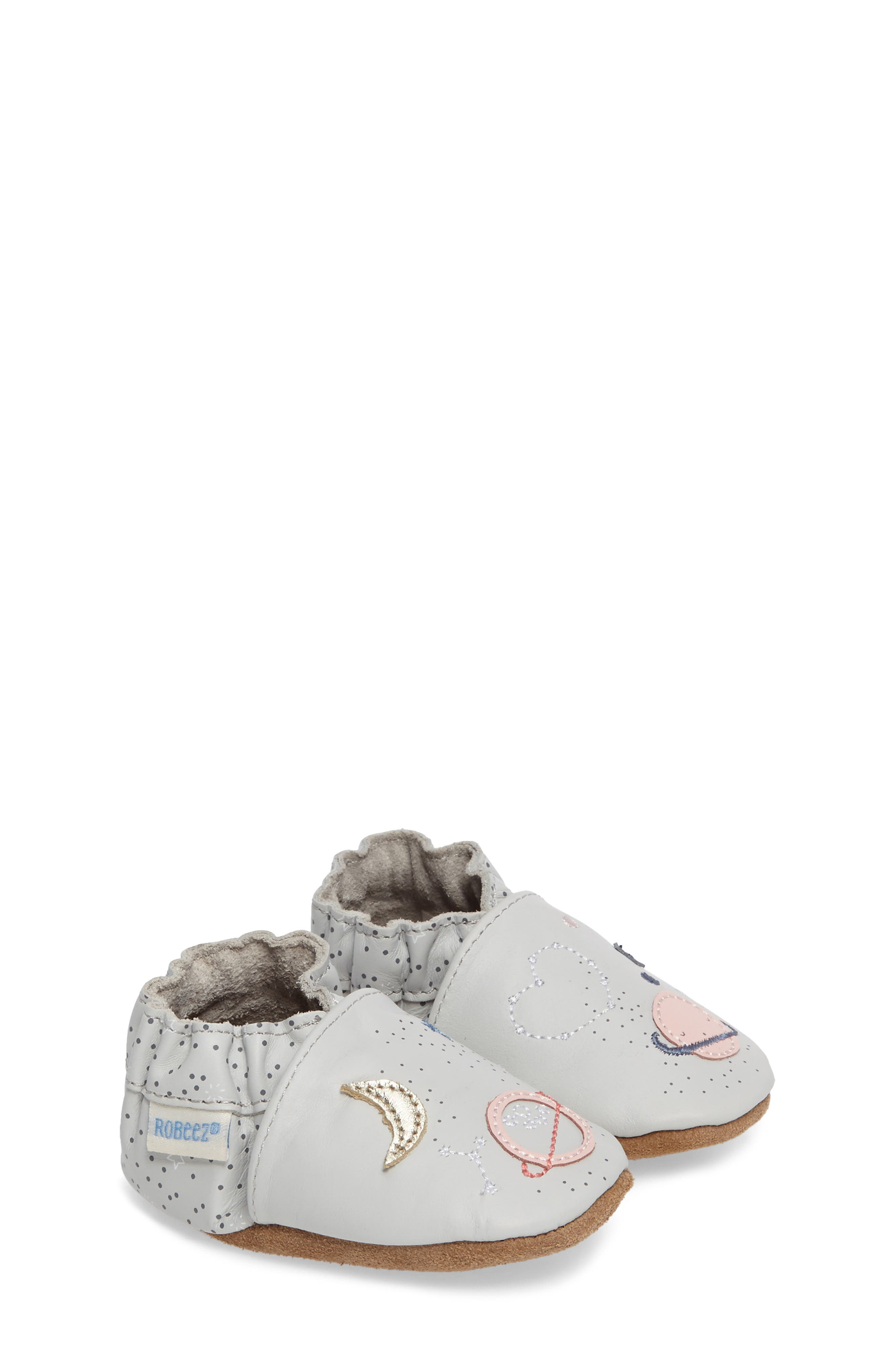 Over the Moon Crib Shoe,                         Main,                         color, 020
