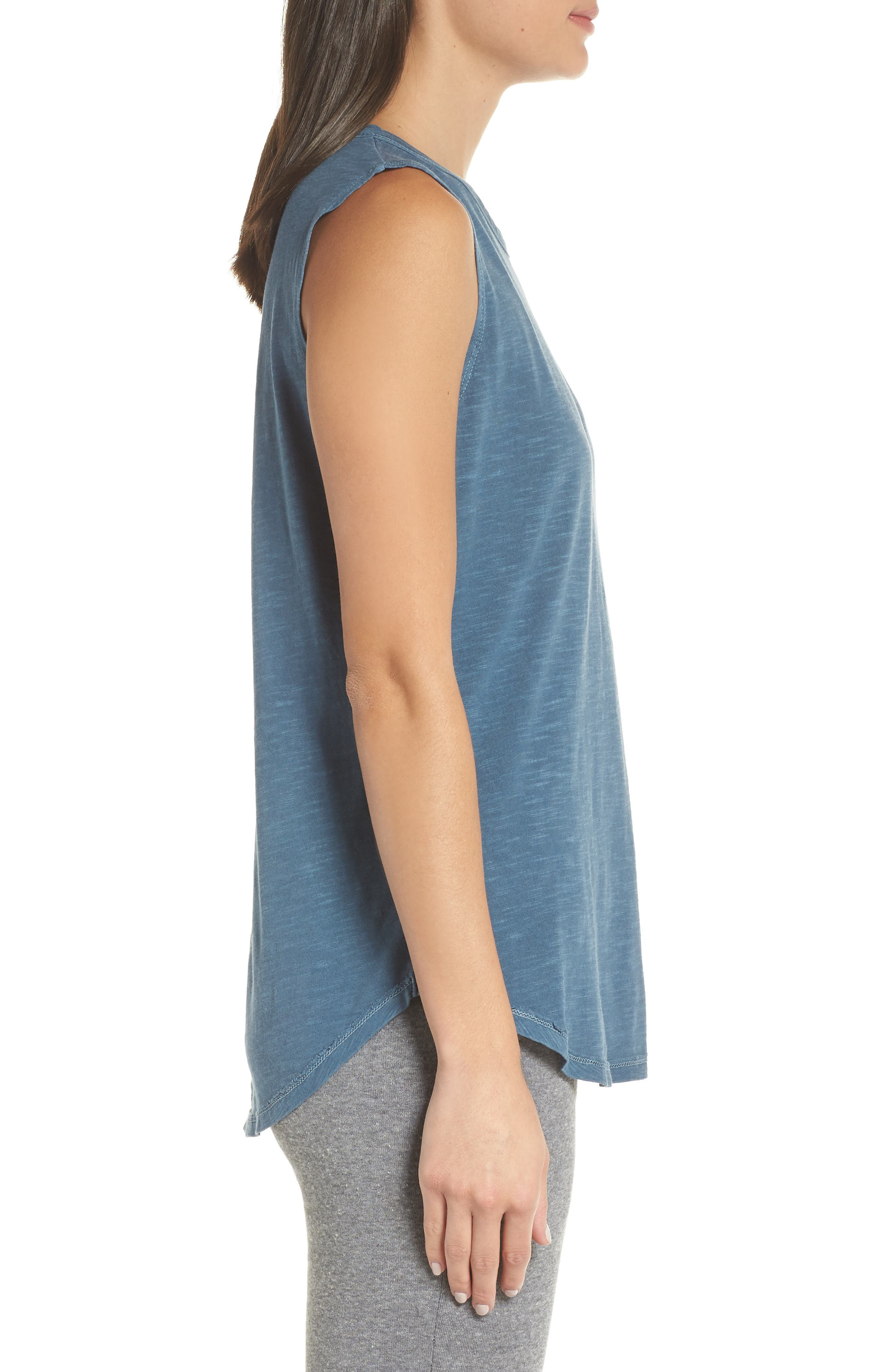 Inside Out Muscle Tee,                             Alternate thumbnail 3, color,                             MINERAL BLUE PIGMENT