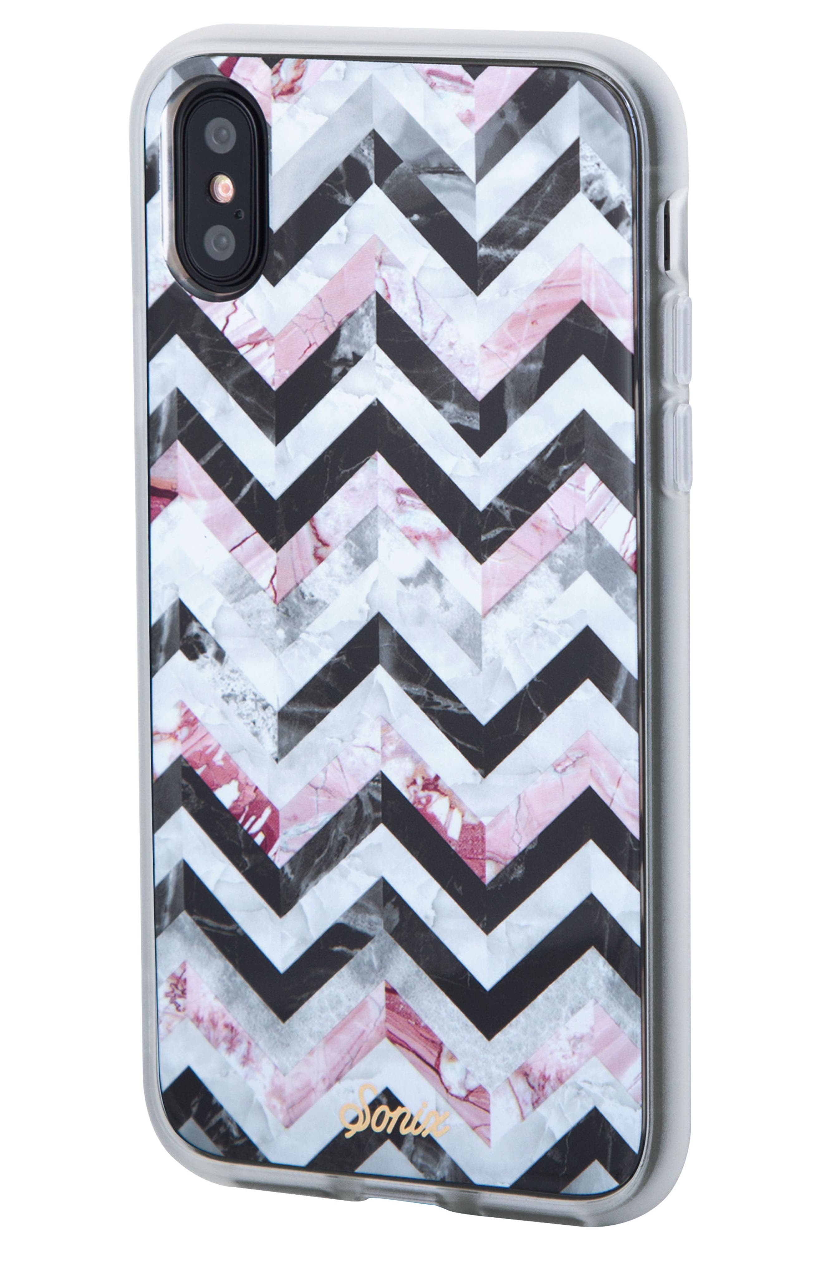 Sonic City Tile iPhone X & Xs Case,                             Alternate thumbnail 2, color,                             BLACK/ MARBLE