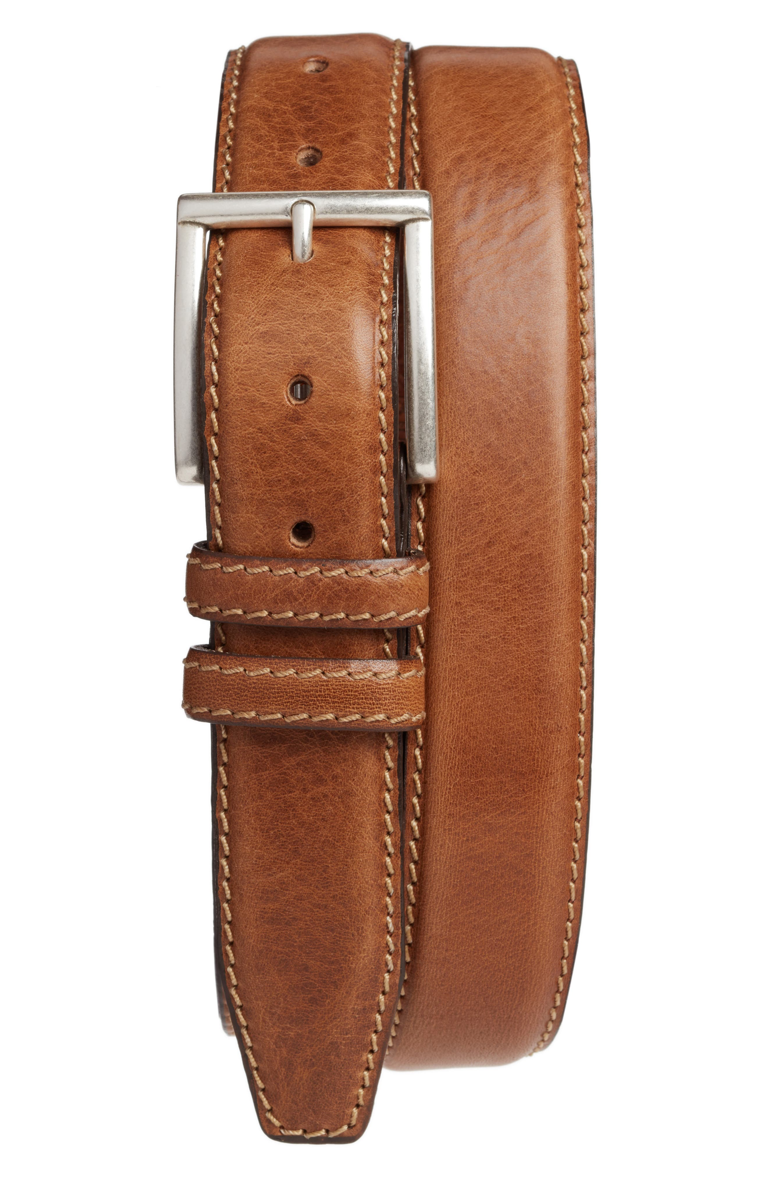 Sterling Ave. Leather Belt,                             Main thumbnail 1, color,