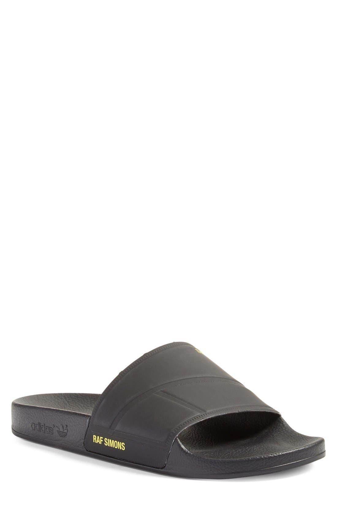 adidas by Raf Simons Bunny Adilette Slide Sandal,                             Main thumbnail 1, color,                             001