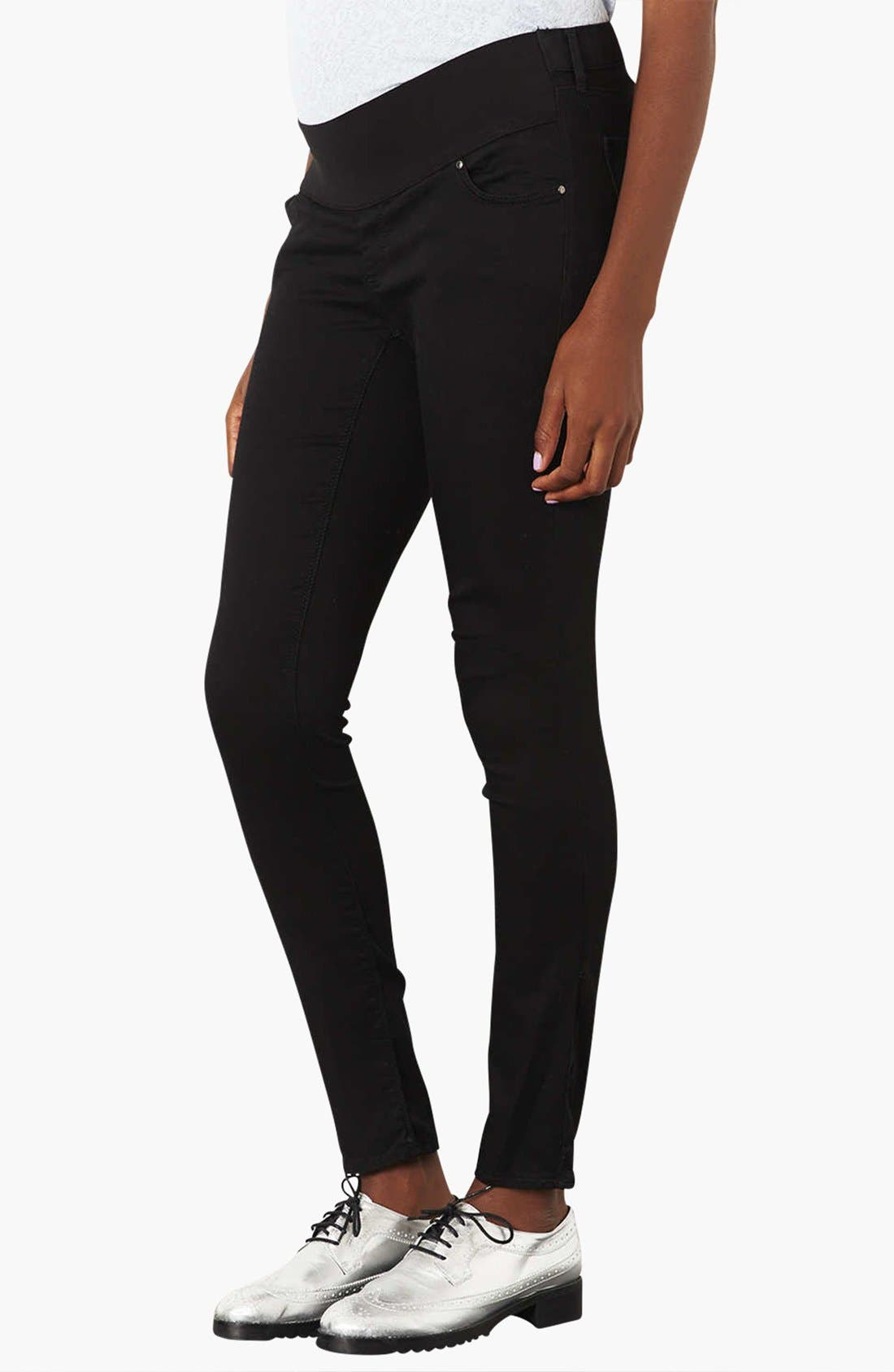 'Leigh' Maternity Jeans,                             Alternate thumbnail 3, color,                             001