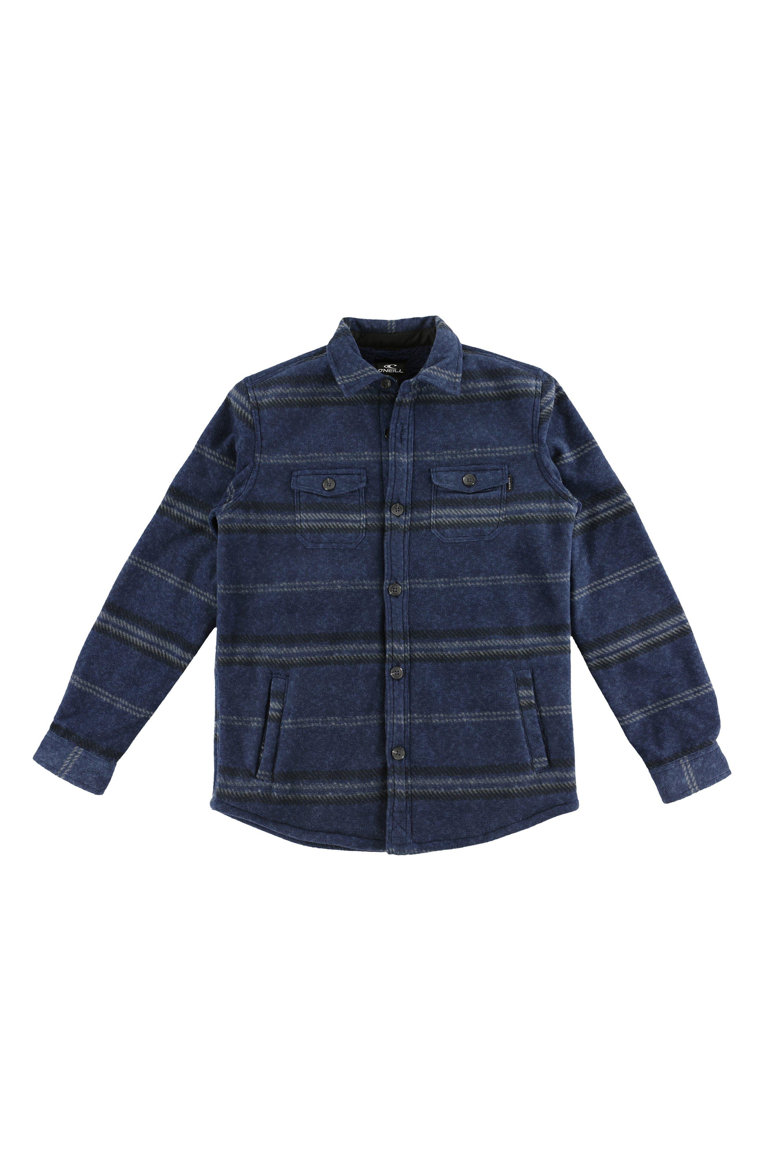 Glacier Shirt Jacket,                         Main,                         color, NAVY HEATHER