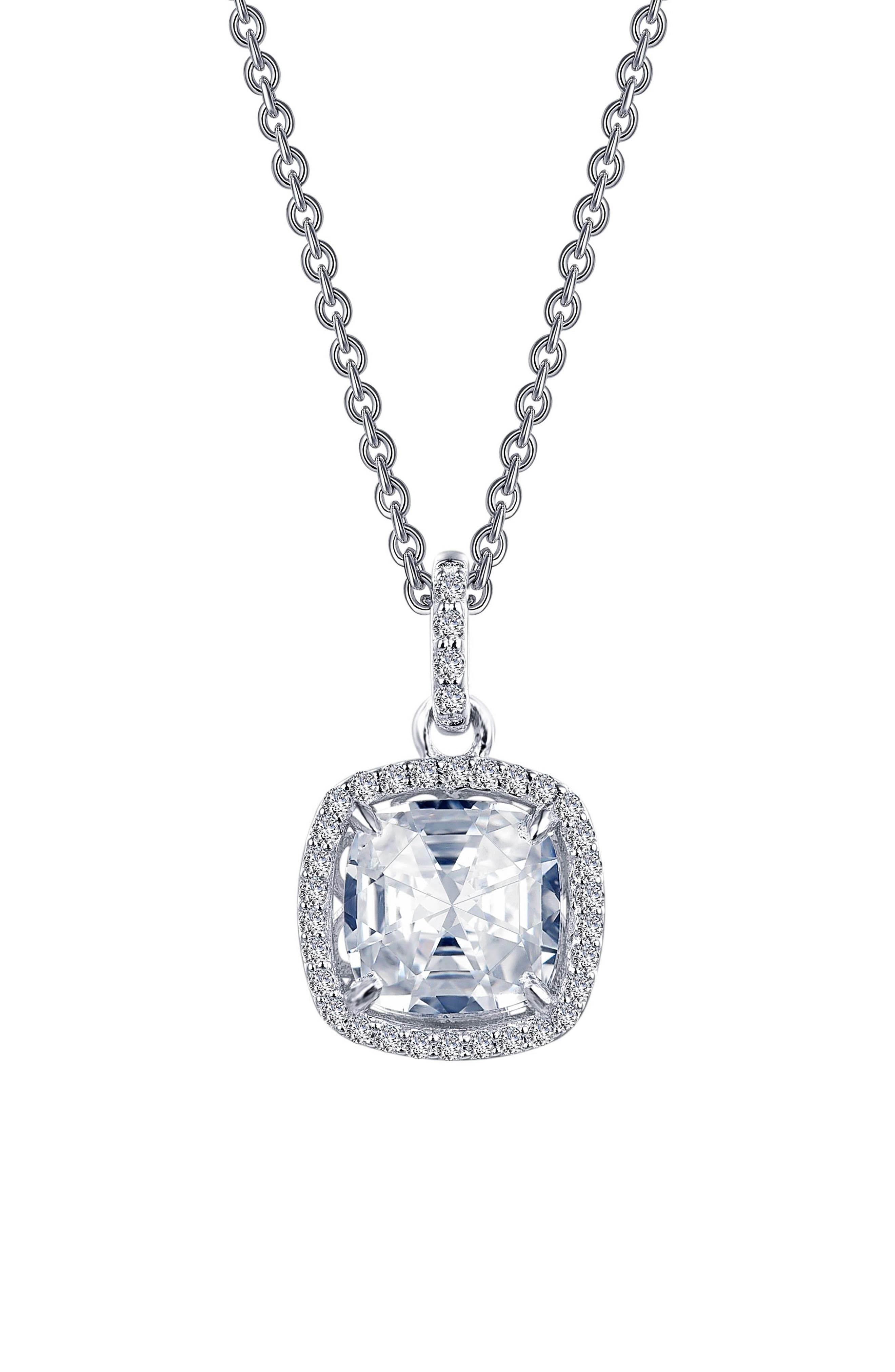 Rose Cut Simulated Diamond Necklace,                         Main,                         color, 040