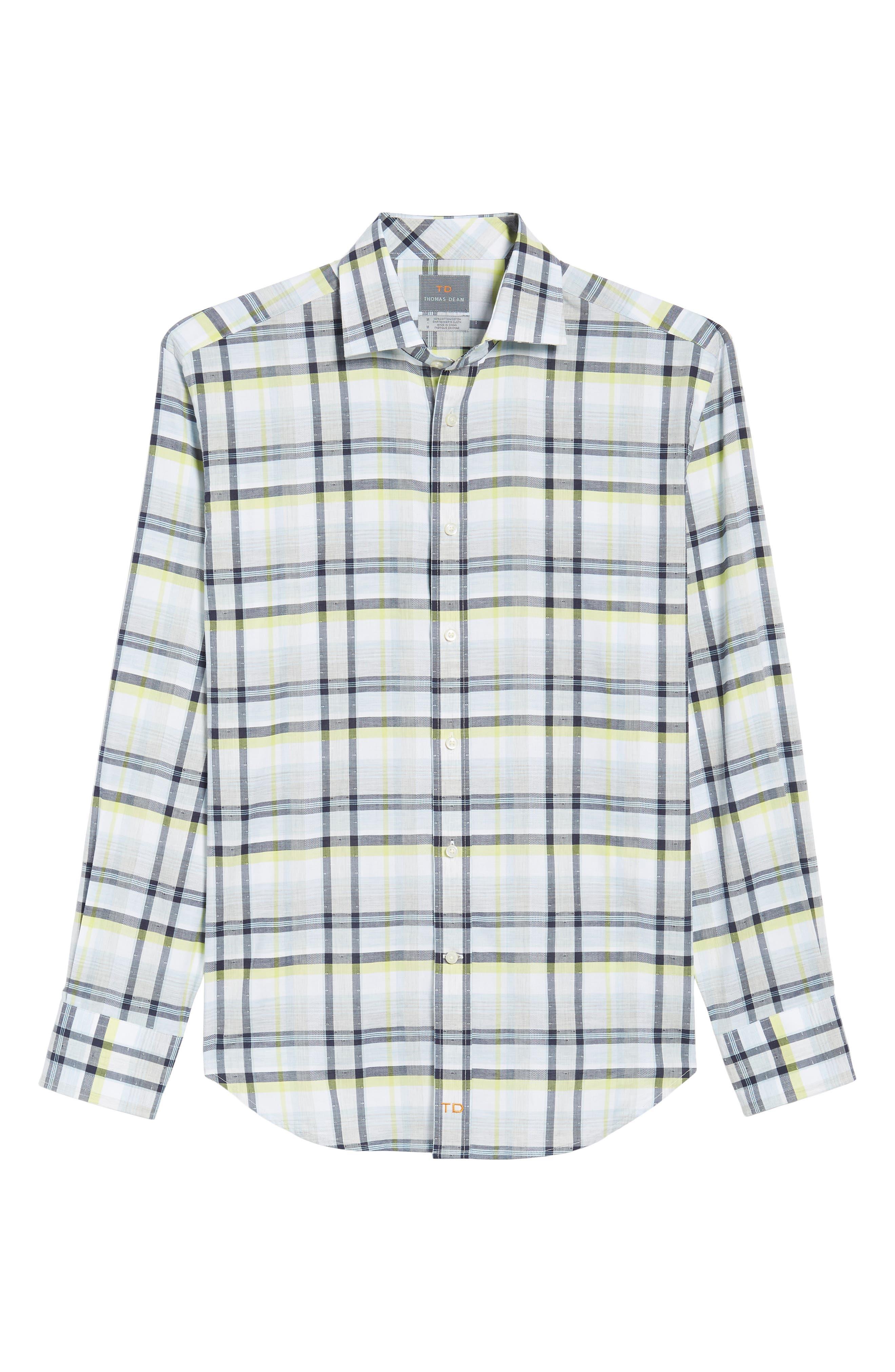 Large Check Sport Shirt,                             Alternate thumbnail 6, color,                             400