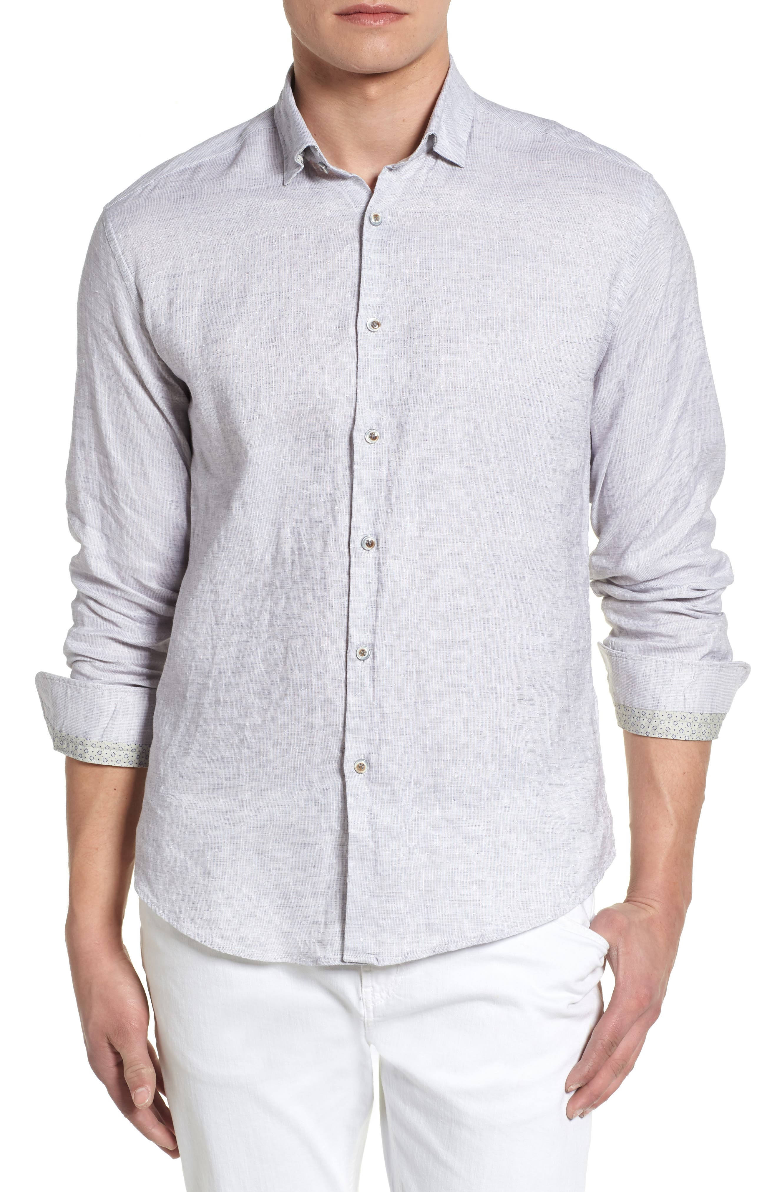 Linen Blend Sport Shirt,                         Main,                         color,