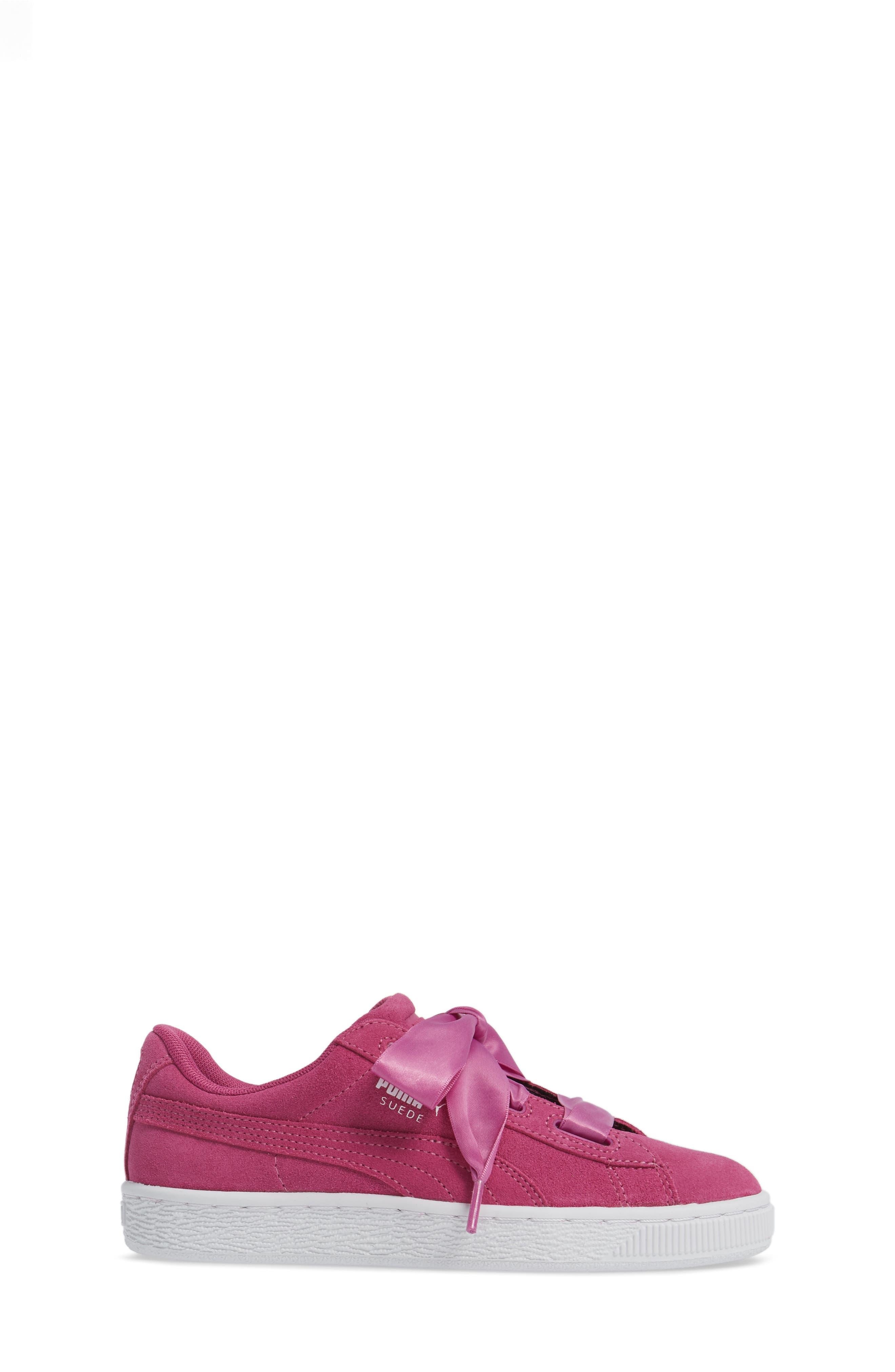 Suede Heart Sneaker,                             Alternate thumbnail 3, color,                             690