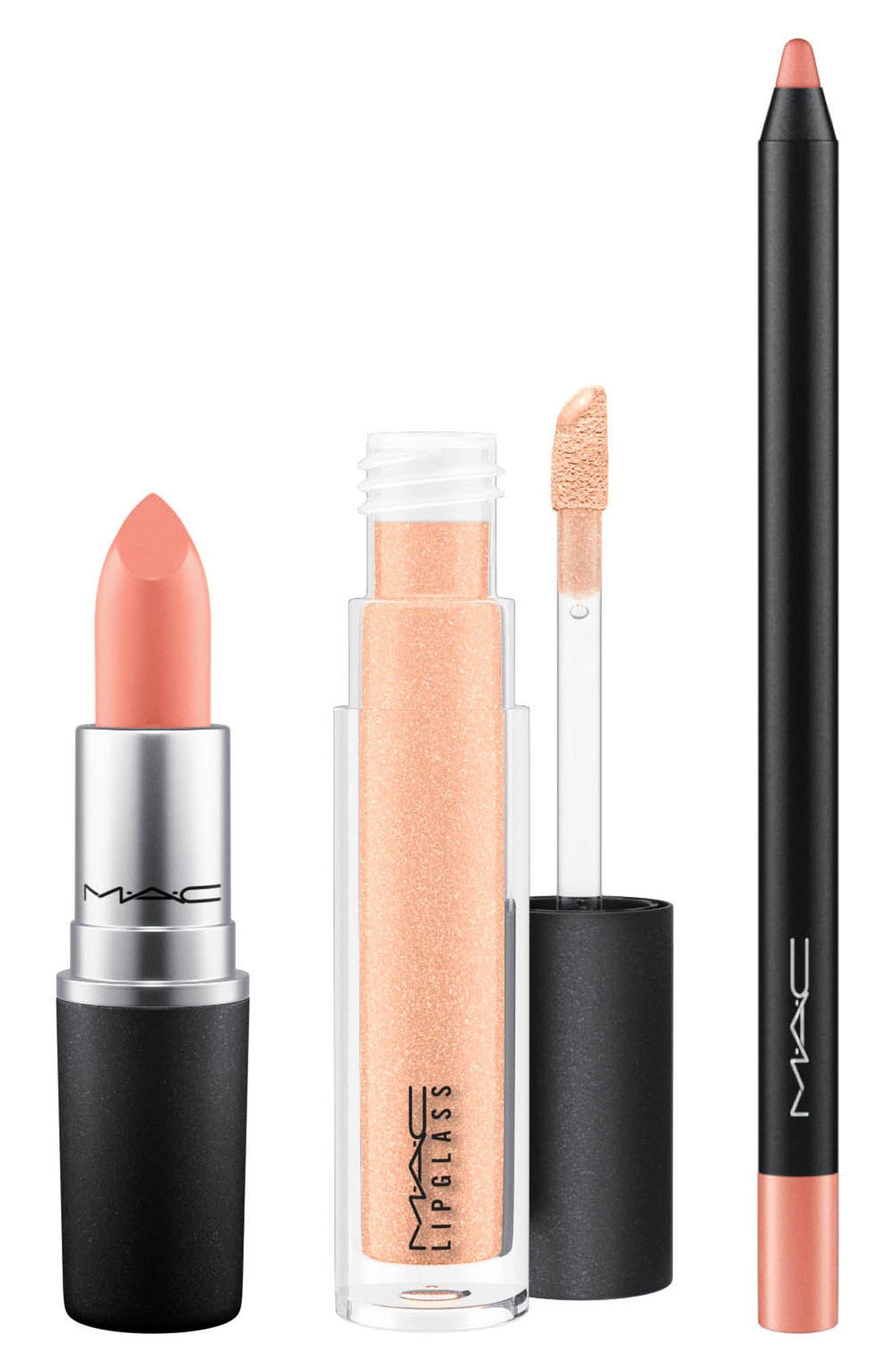 MAC Snow Ball Nude Lip Bag,                             Alternate thumbnail 2, color,