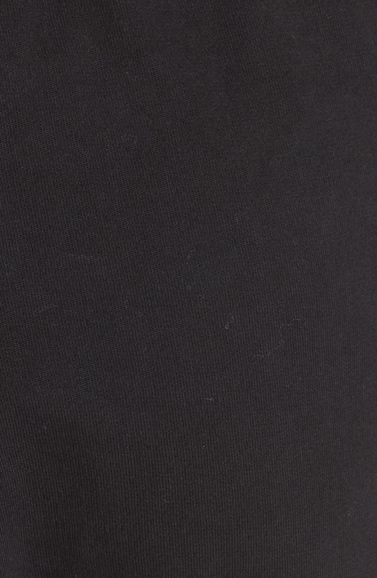 Side Tie Jogger Pants,                             Alternate thumbnail 6, color,                             BLACK