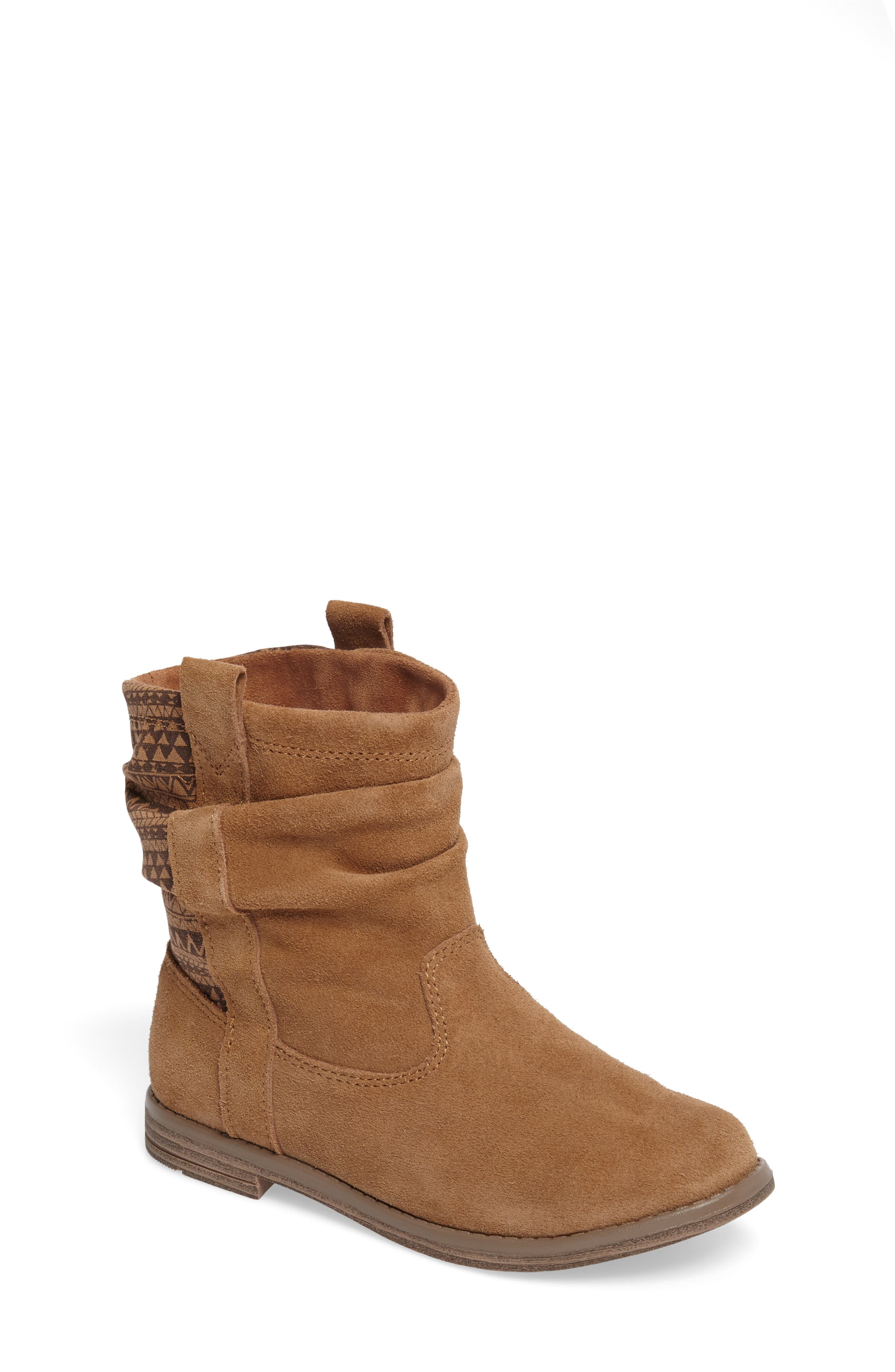 Laurel Slouchy Bootie,                             Main thumbnail 1, color,                             TOFFEE SUEDE