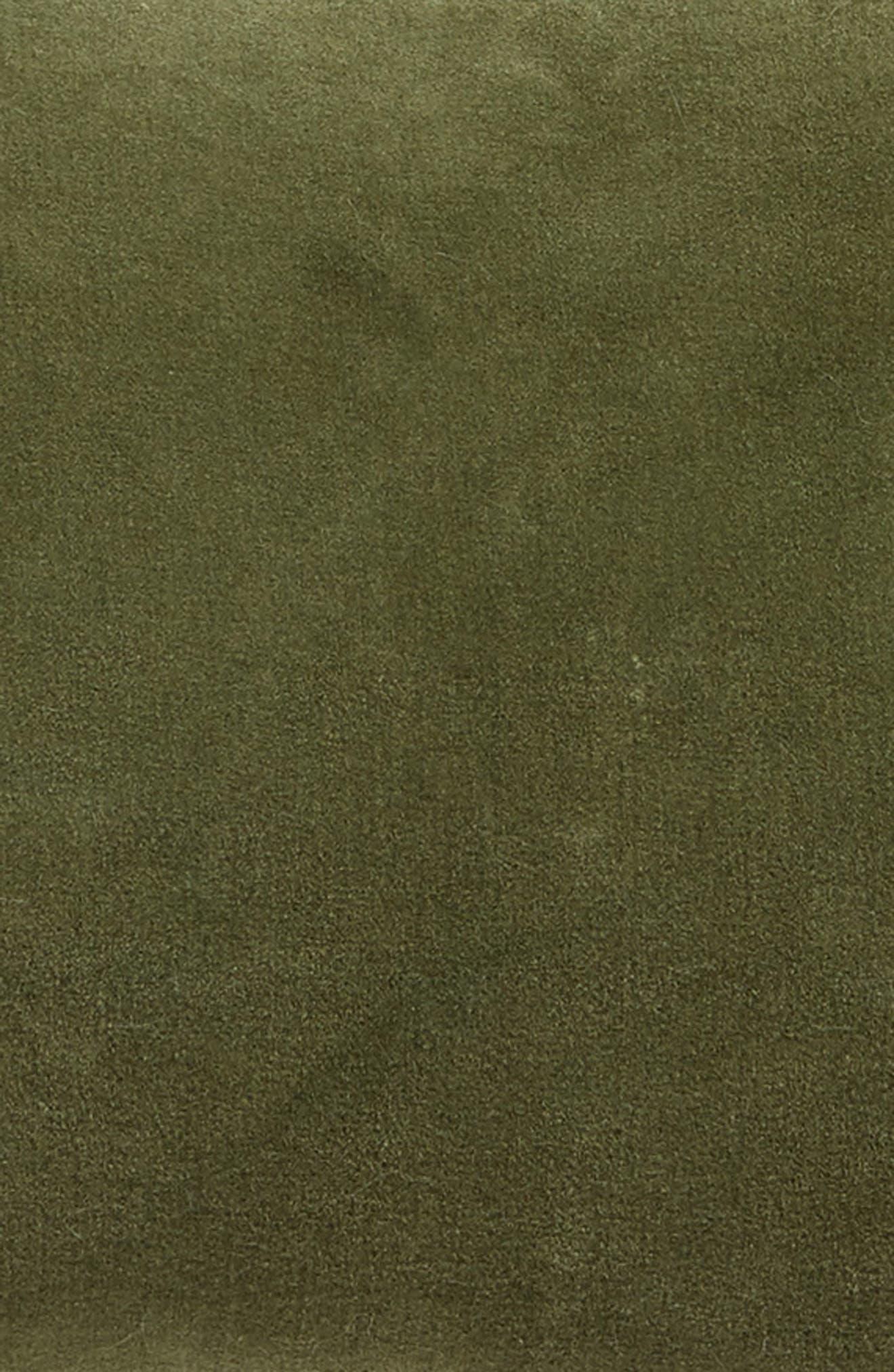 Velvet Accent Pillow,                             Alternate thumbnail 3, color,                             GREEN SORREL