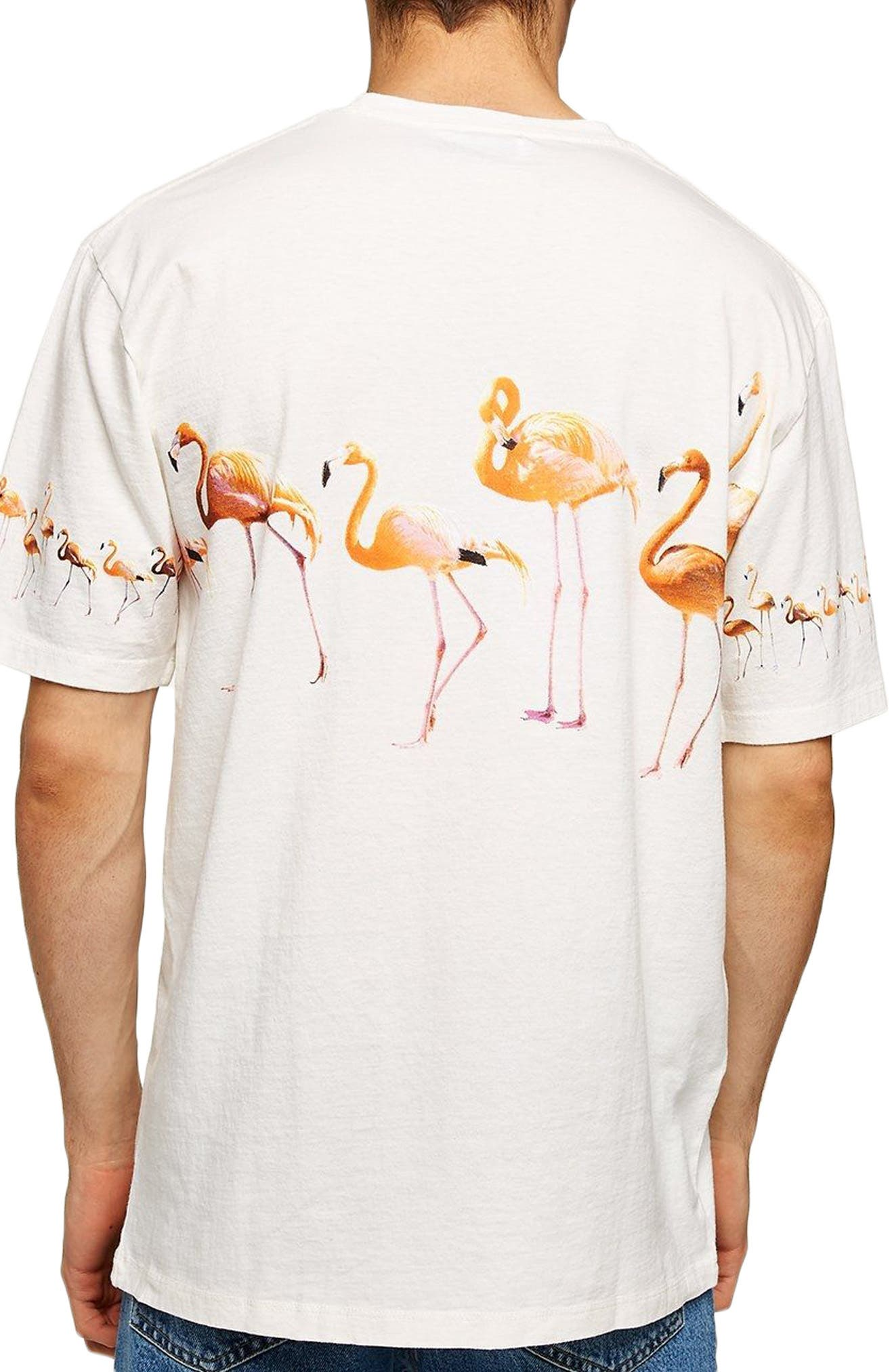 Oversize Flamingo Graphic T-Shirt,                             Alternate thumbnail 2, color,