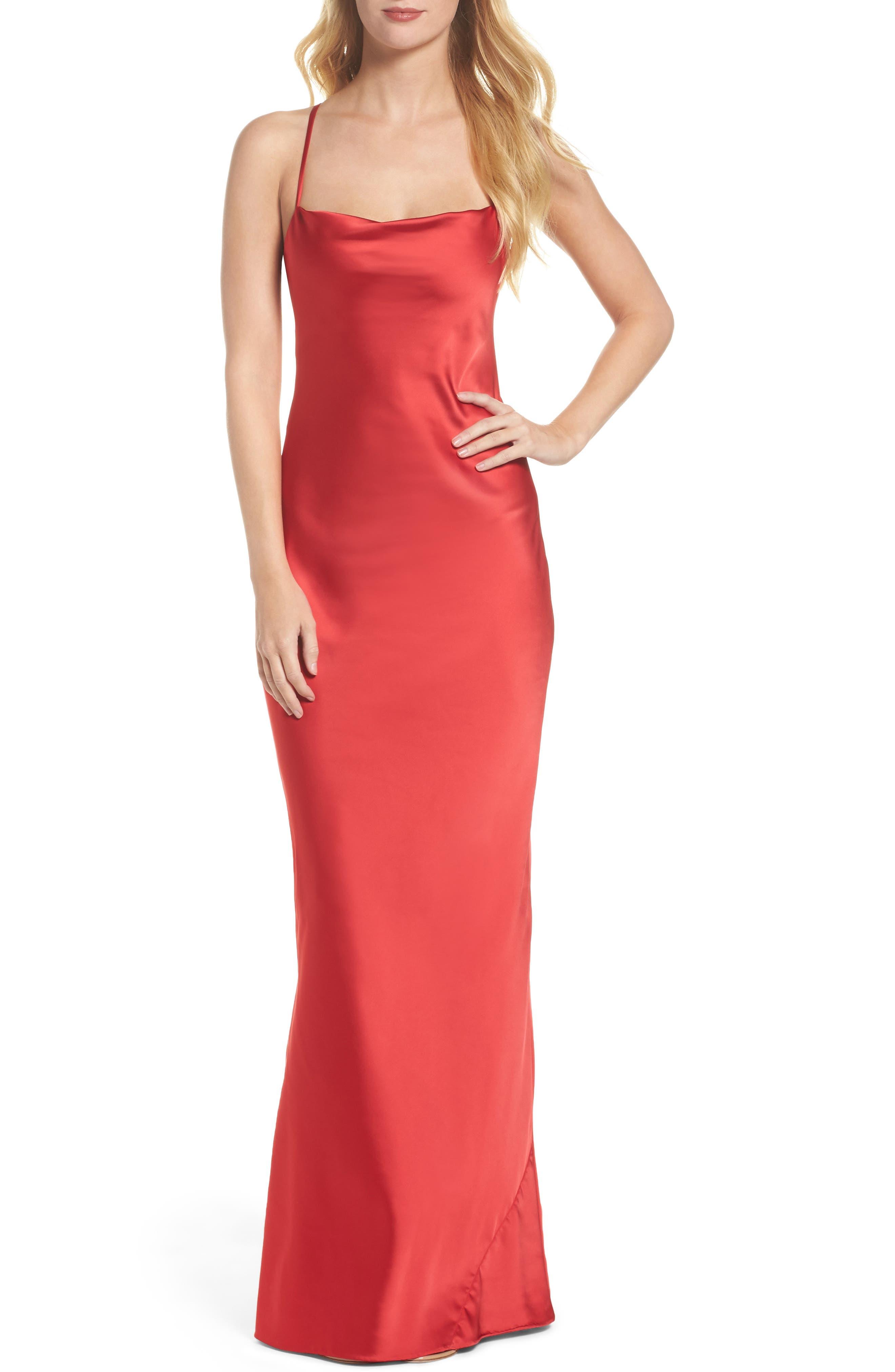 Juliet Satin Gown,                         Main,                         color, 647