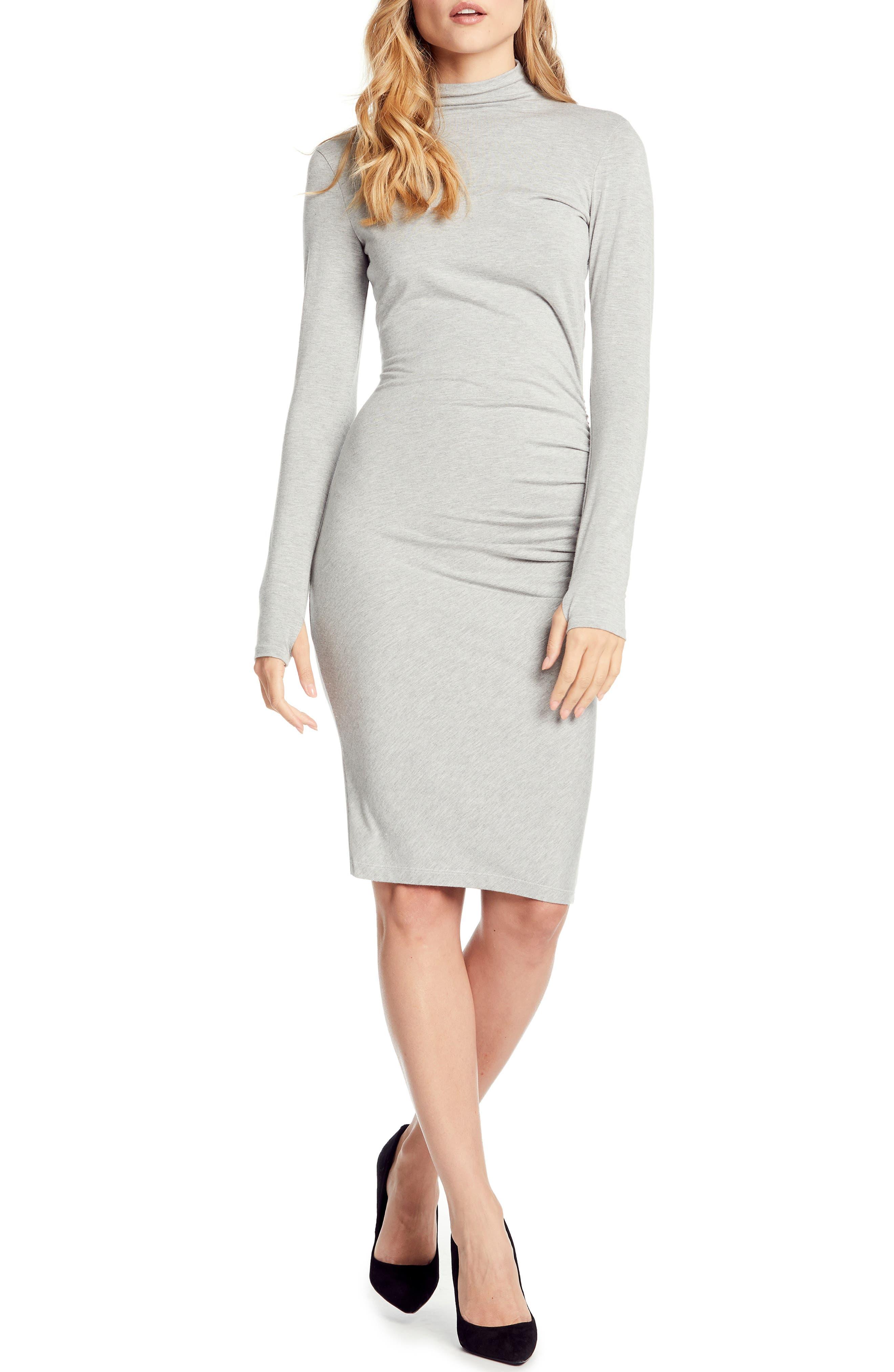 Michael Stars Jules Jersey Body-Con Dress, Grey