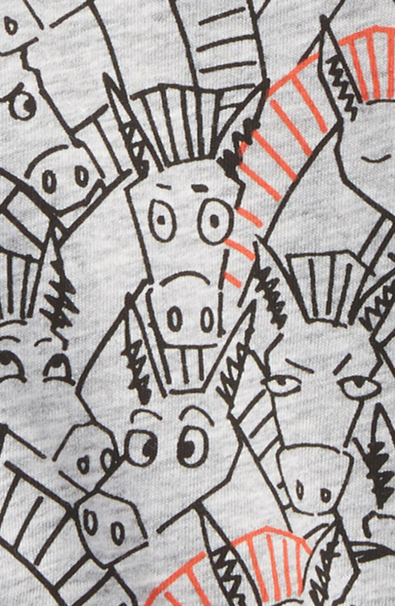 Chuckle All Over Donkey Print Tee,                             Alternate thumbnail 2, color,                             020