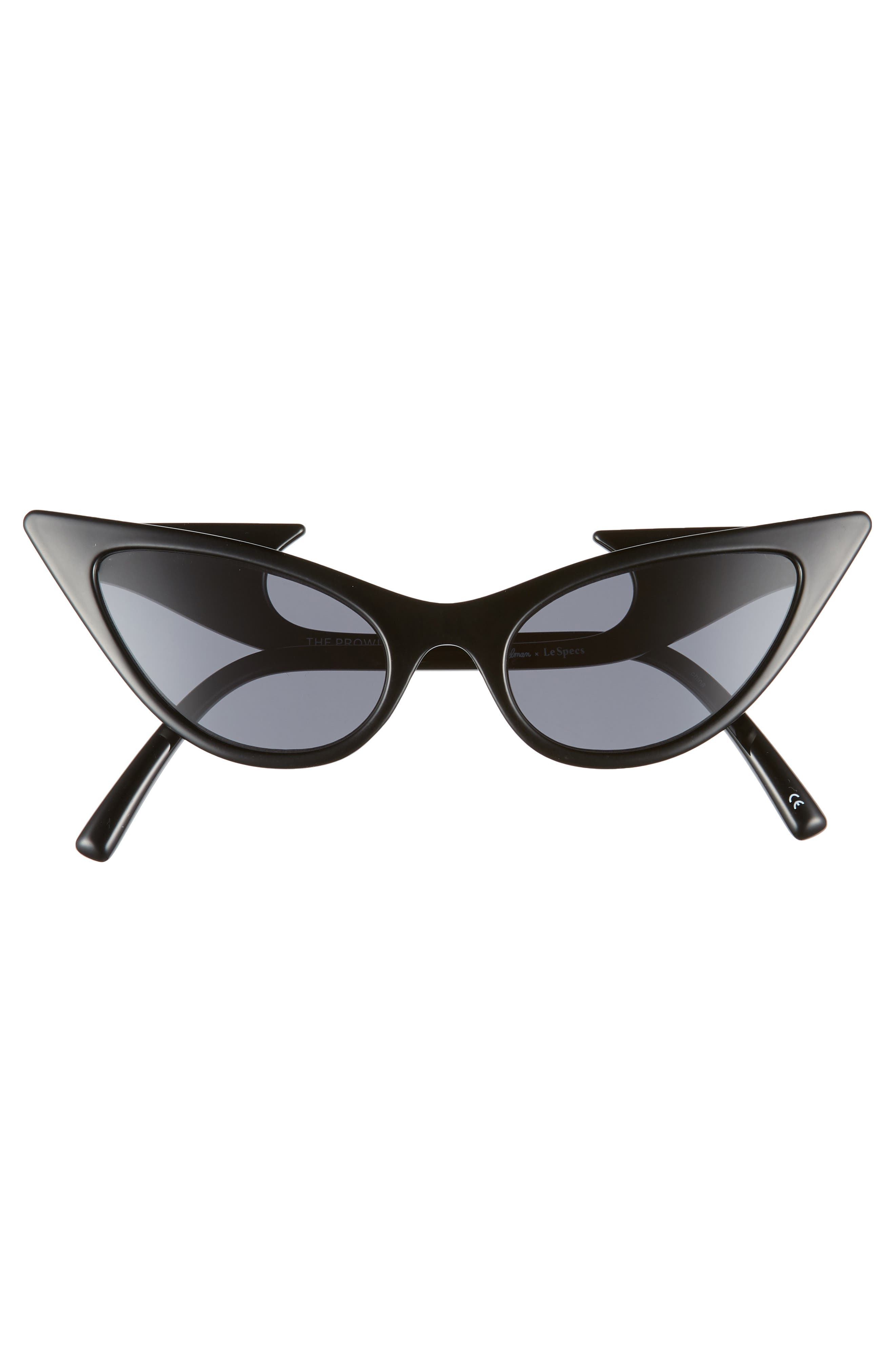 The Prowler 55mm Sunglasses,                             Alternate thumbnail 3, color,                             BLACK
