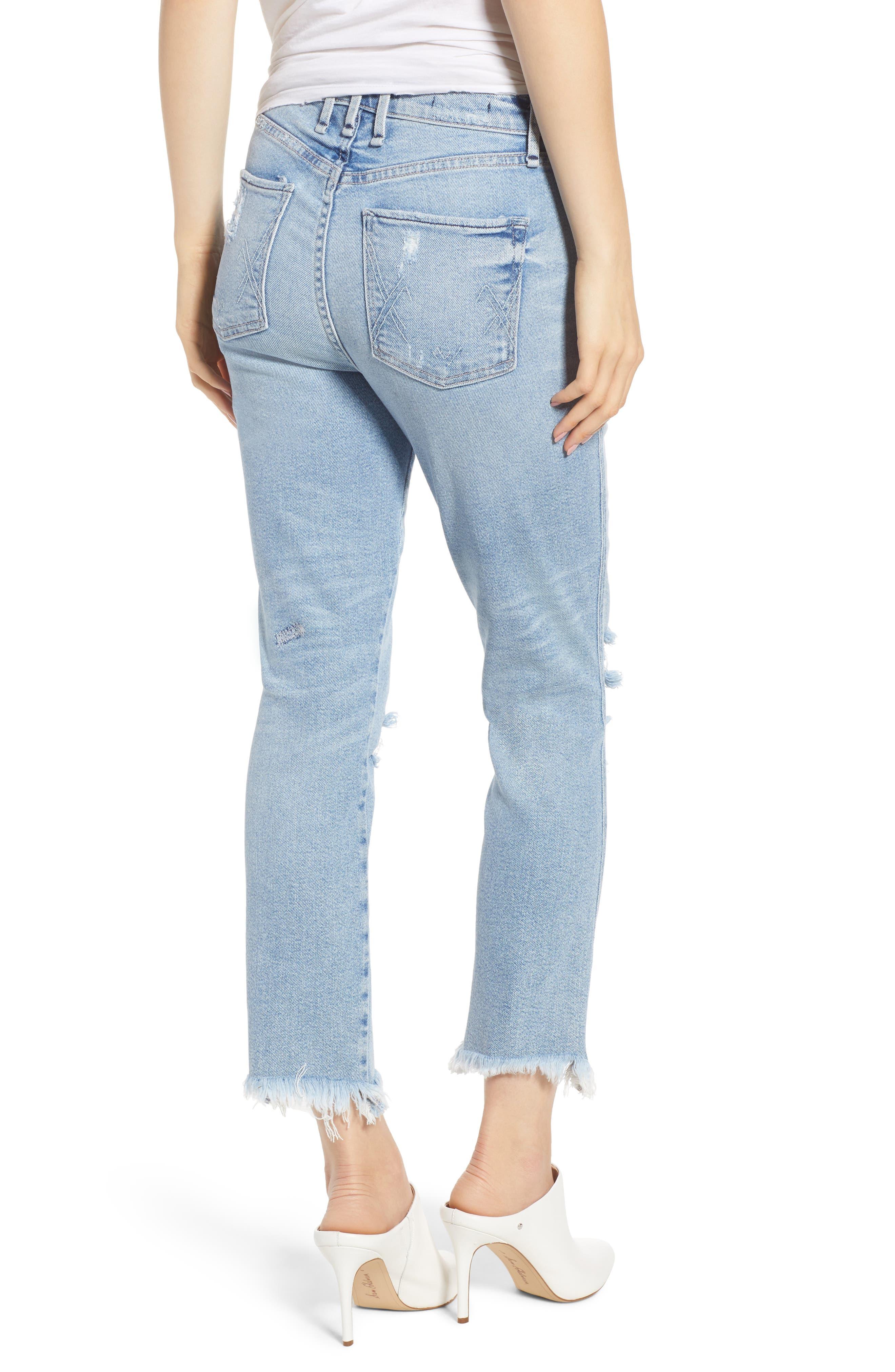 Valetta High Waist Crop Straight Leg Jeans,                             Alternate thumbnail 2, color,                             450