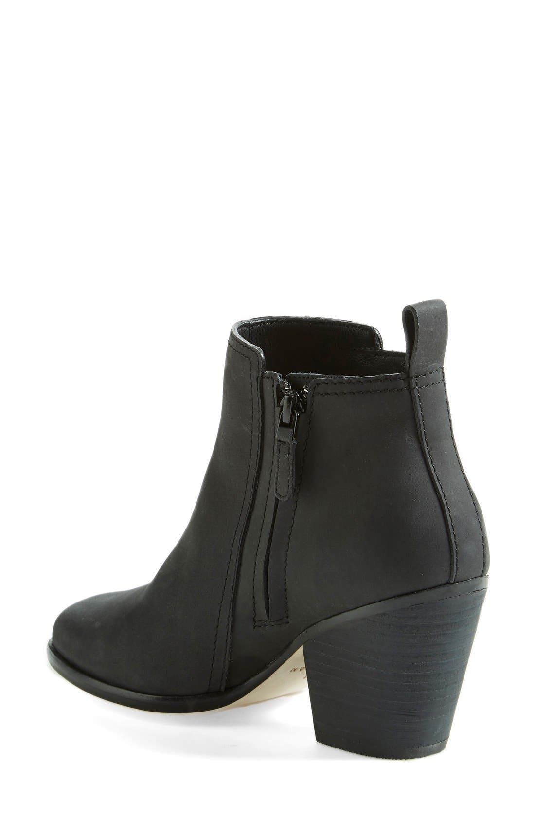 COLE HAAN,                             'Chesney' Round Toe Bootie,                             Alternate thumbnail 2, color,                             001