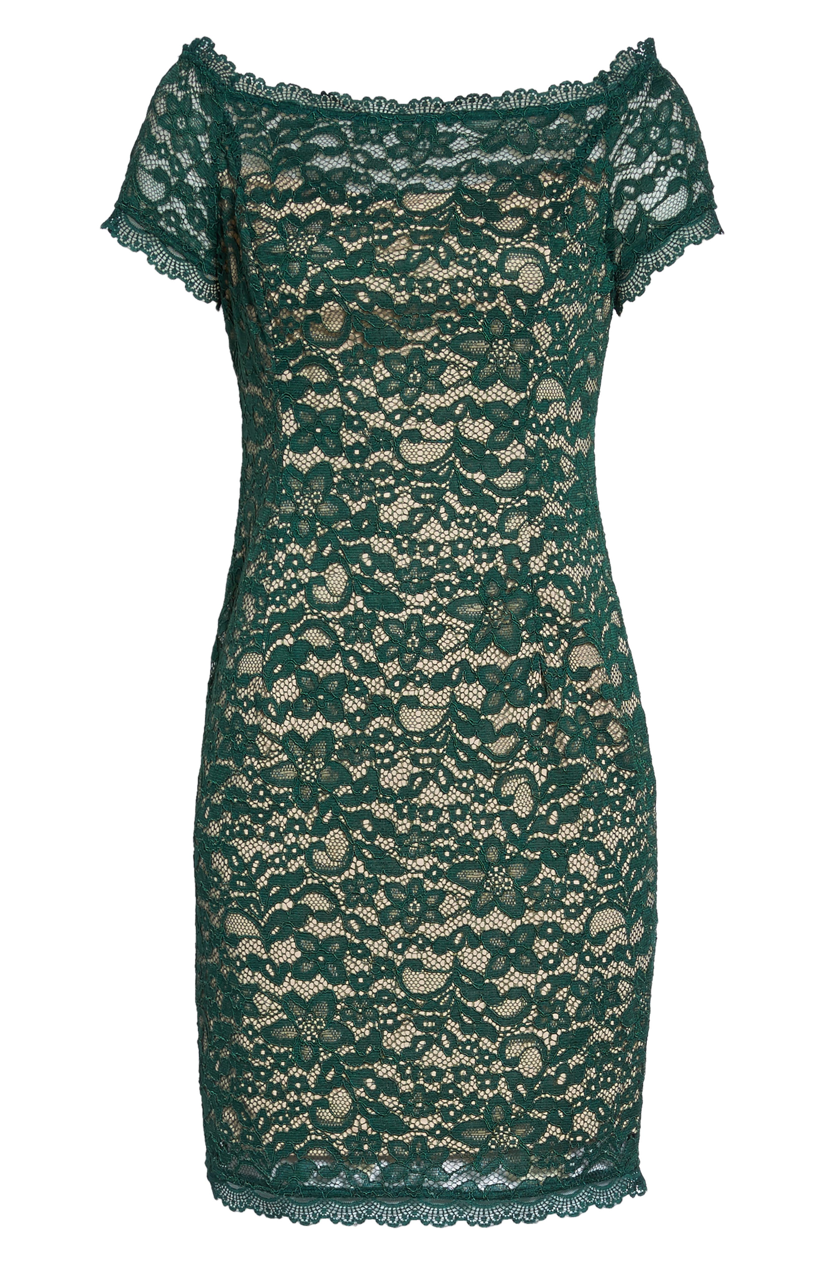 Aubrey Lace Sheath Dress,                             Alternate thumbnail 6, color,                             303