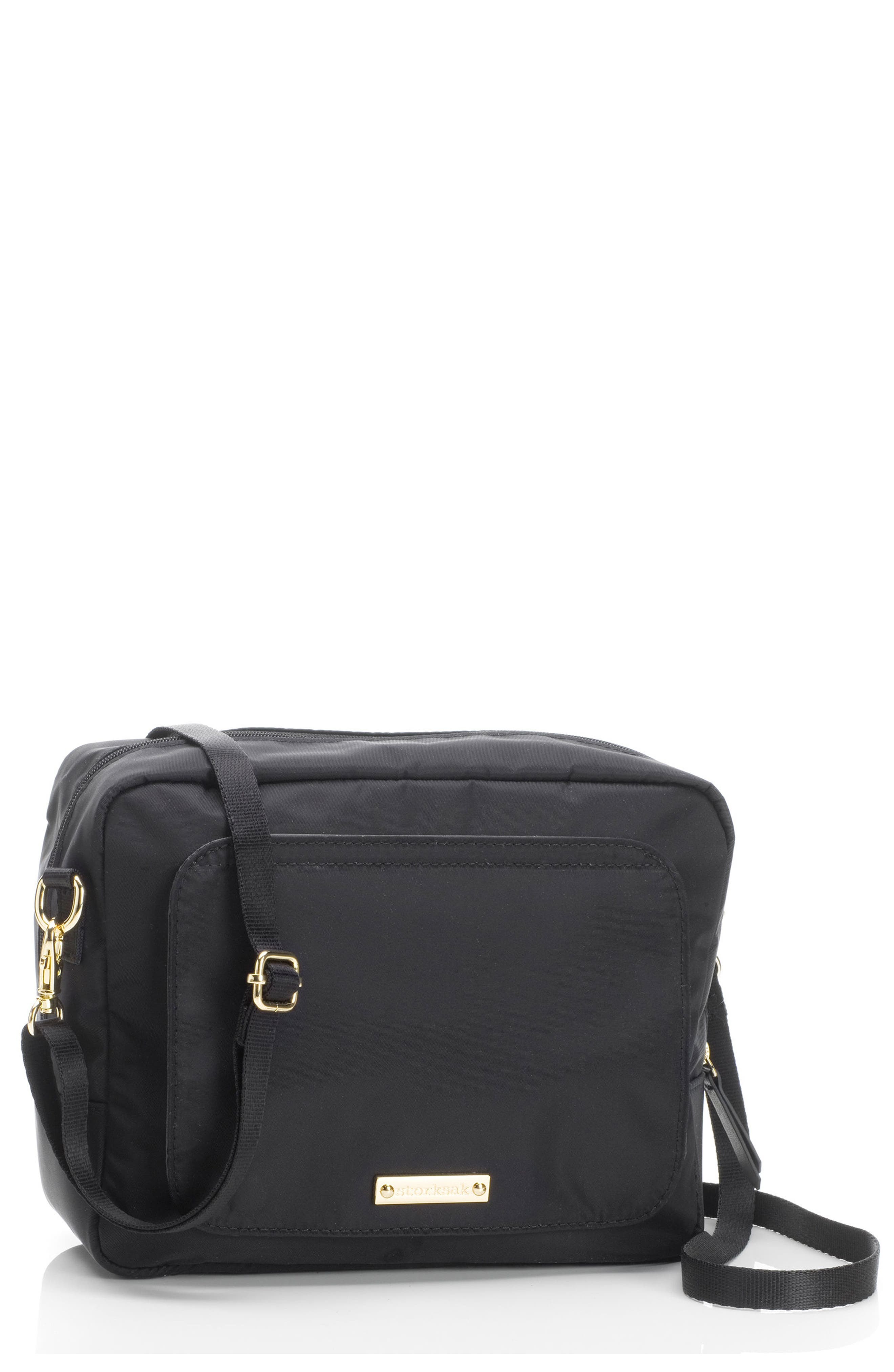 Mini Fix Crossbody Diaper Bag,                         Main,                         color, BLACK