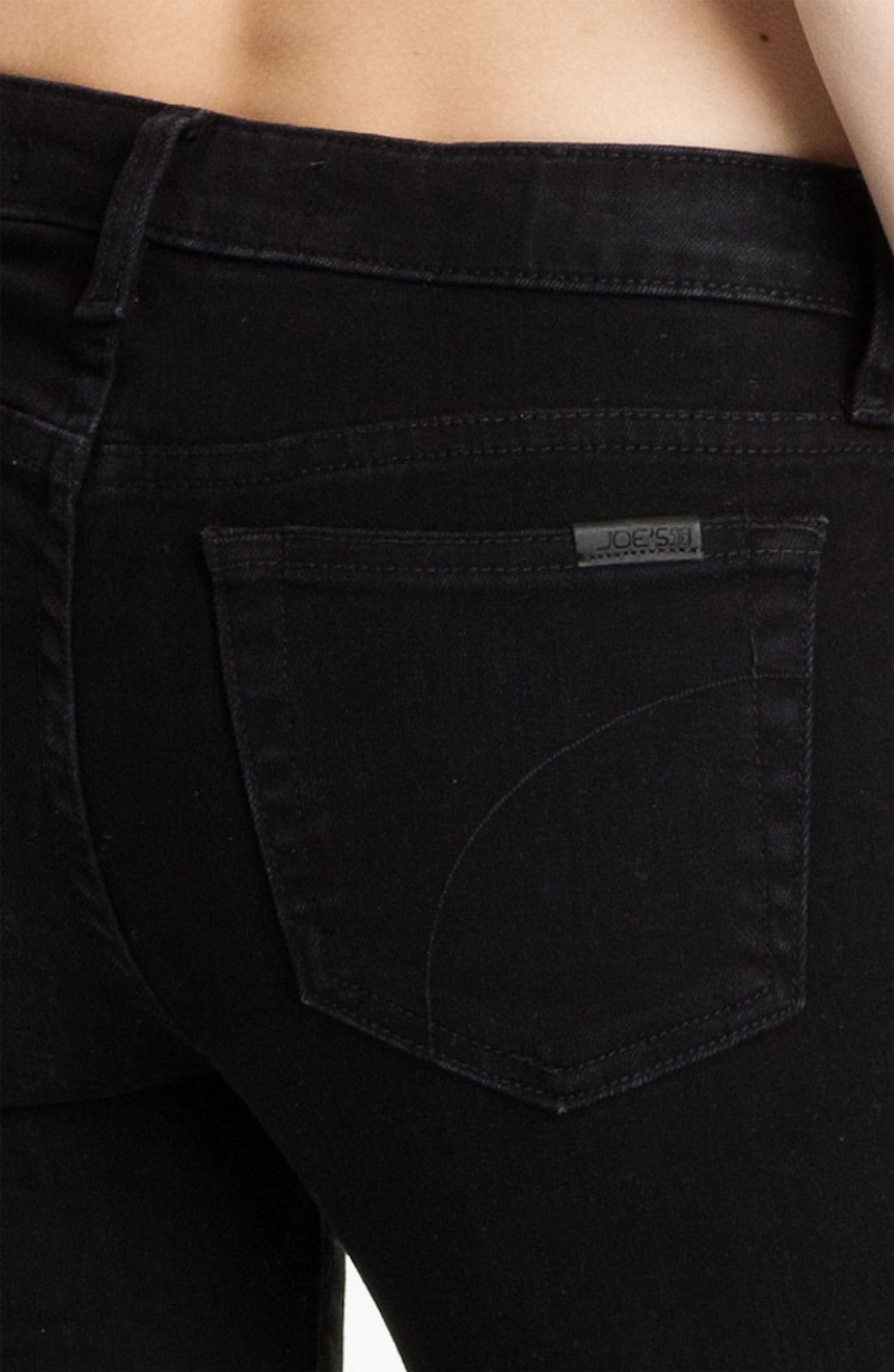 Ankle Zip Skinny Jeans,                             Alternate thumbnail 3, color,                             001